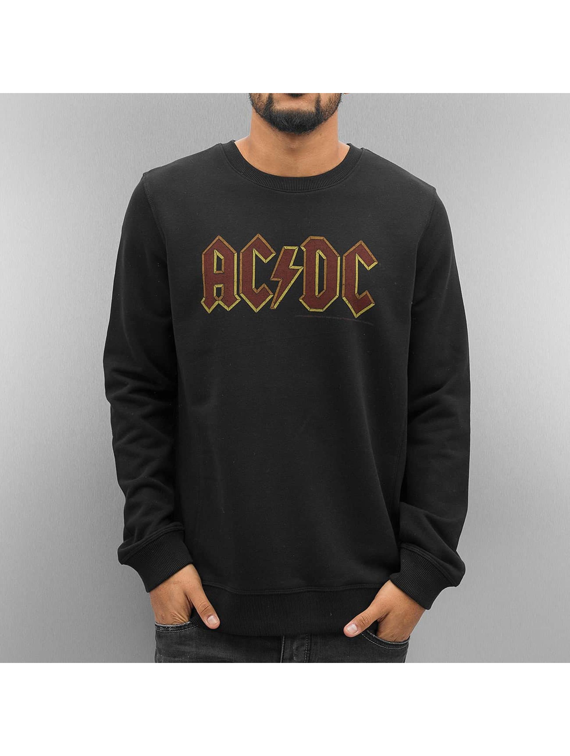 Amplified Männer Pullover AC DC Logo in schwarz