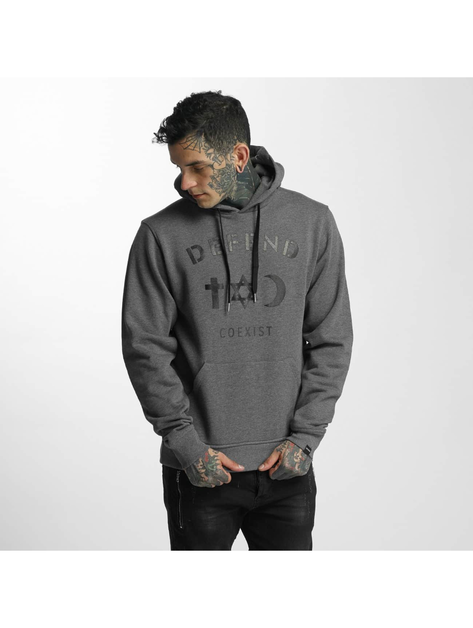 Defend Paris Männer Hoody CO in grau