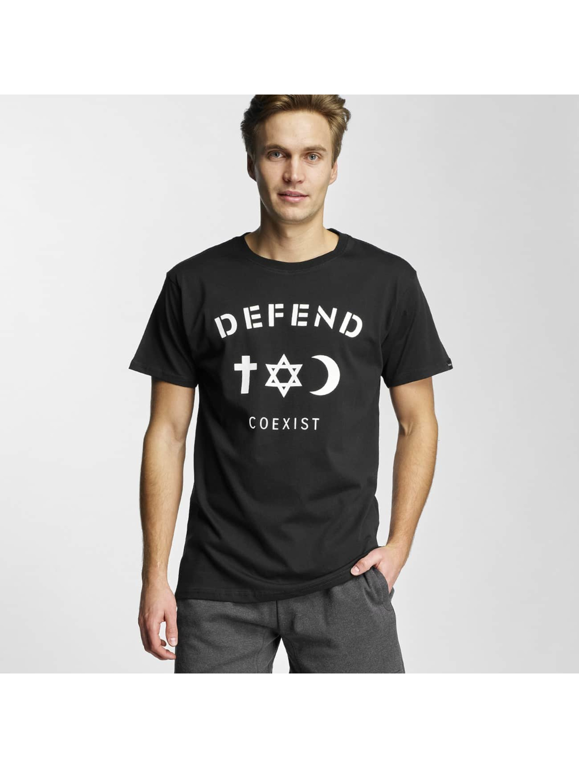 Defend Paris Männer T-Shirt CO in schwarz