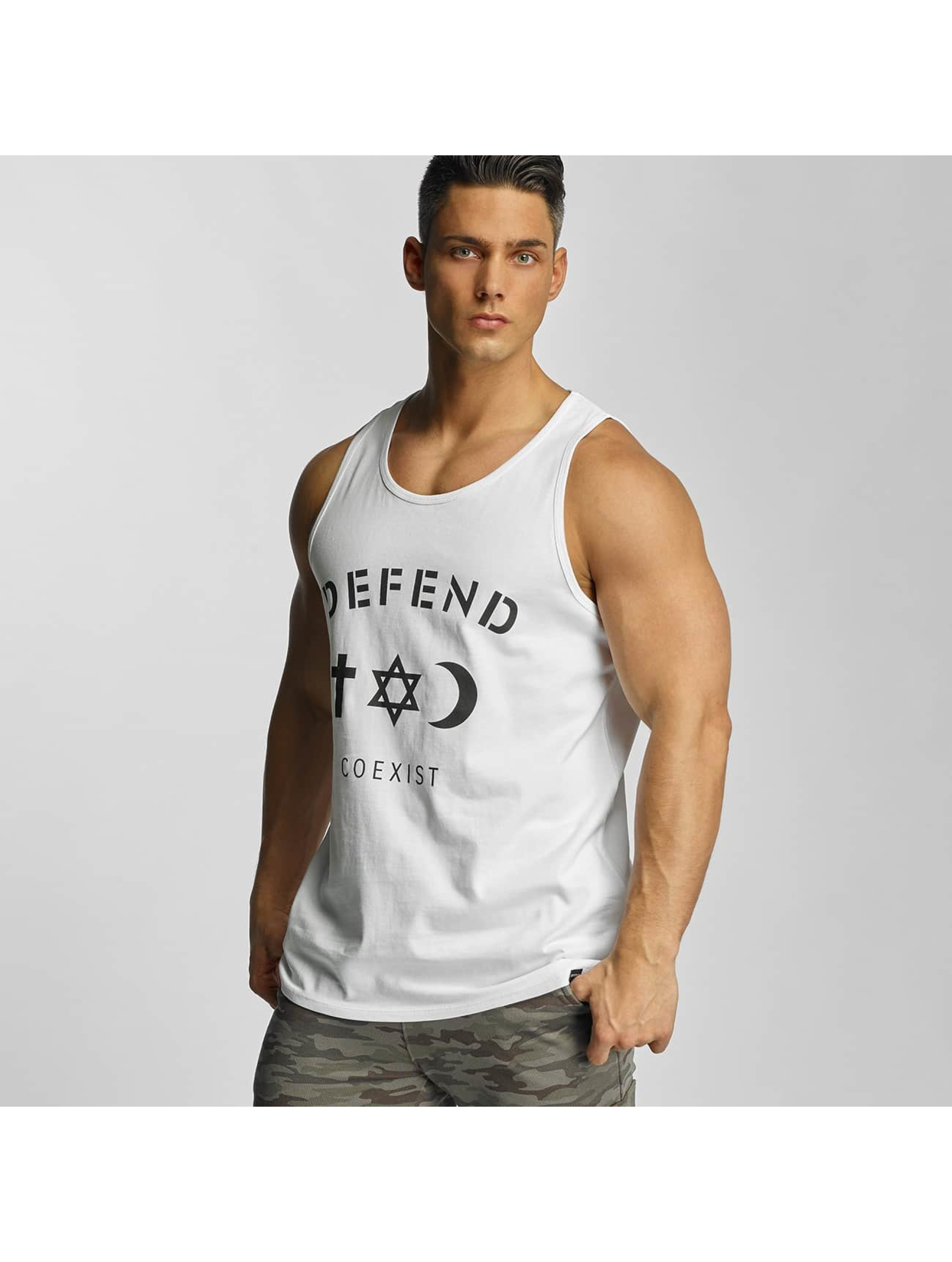 Defend Paris Männer Tank Tops Paris CO in weiß