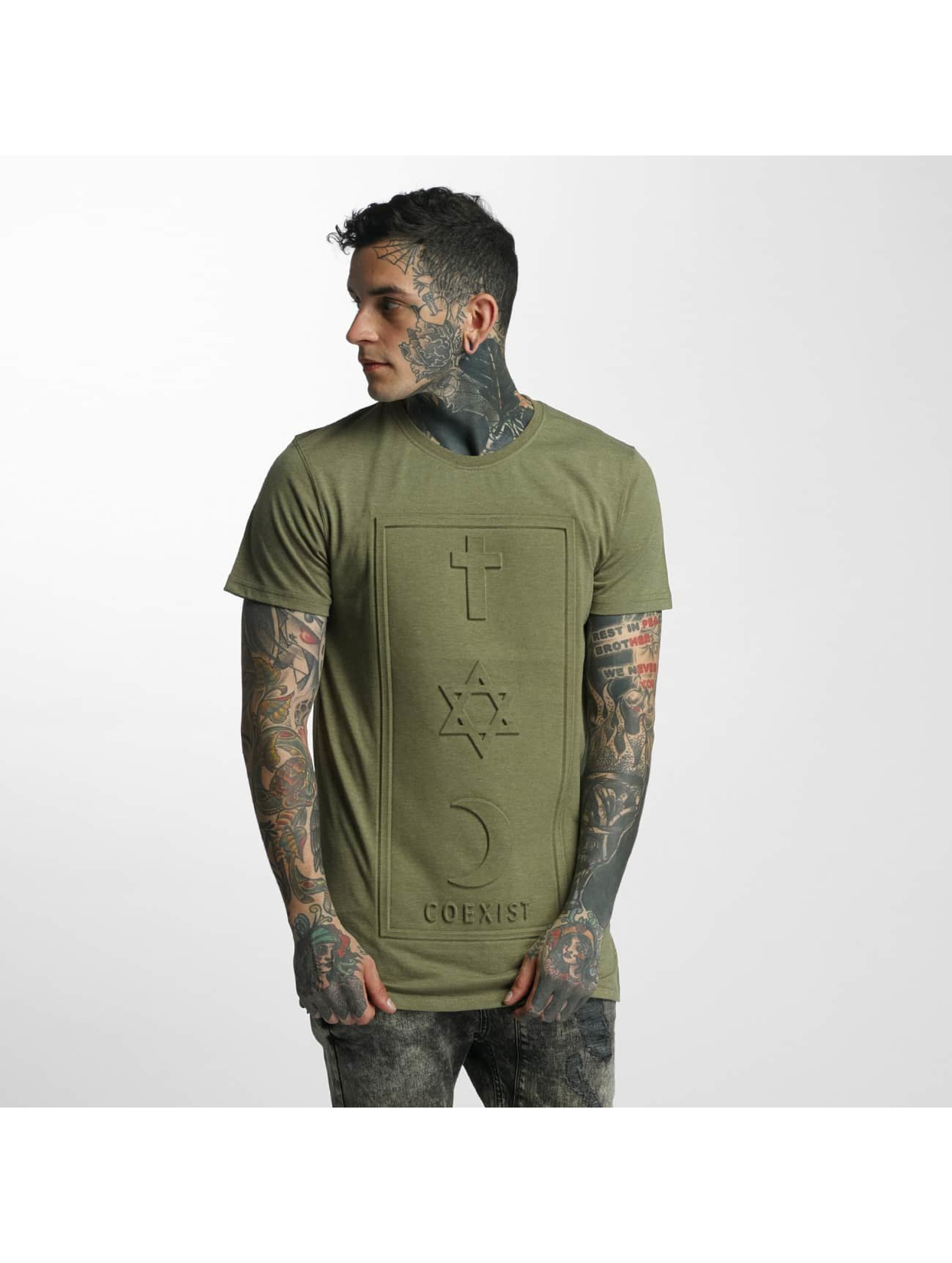 Defend Paris Männer T-Shirt CO 3D in khaki
