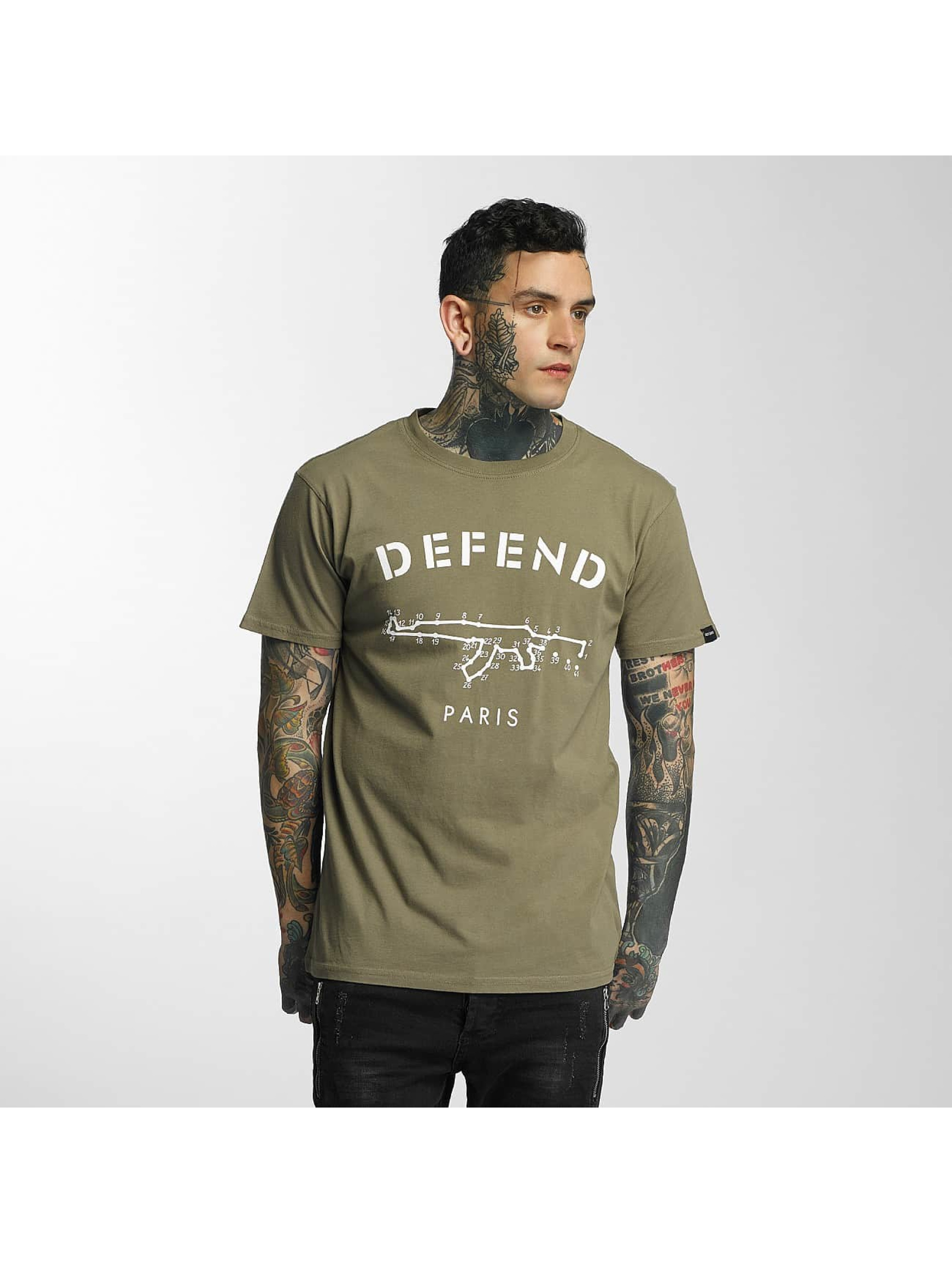 Defend Paris Männer T-Shirt Linked in khaki