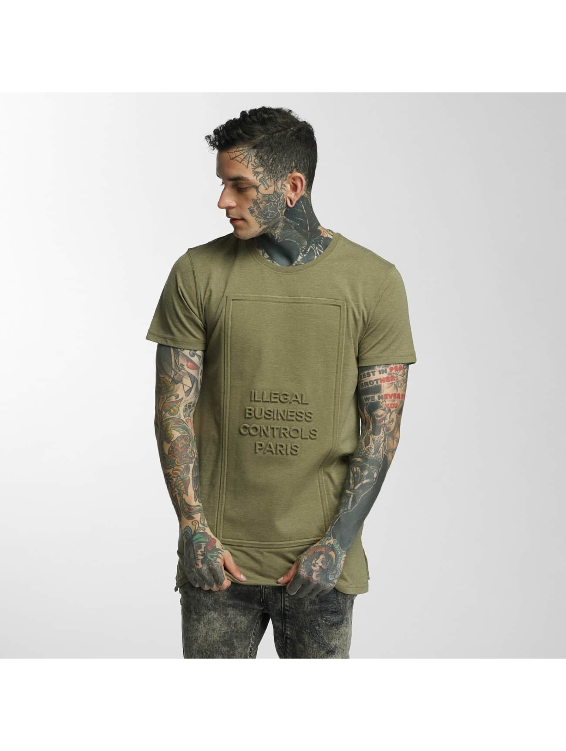 Defend Paris Männer T-Shirt Business 3D in khaki