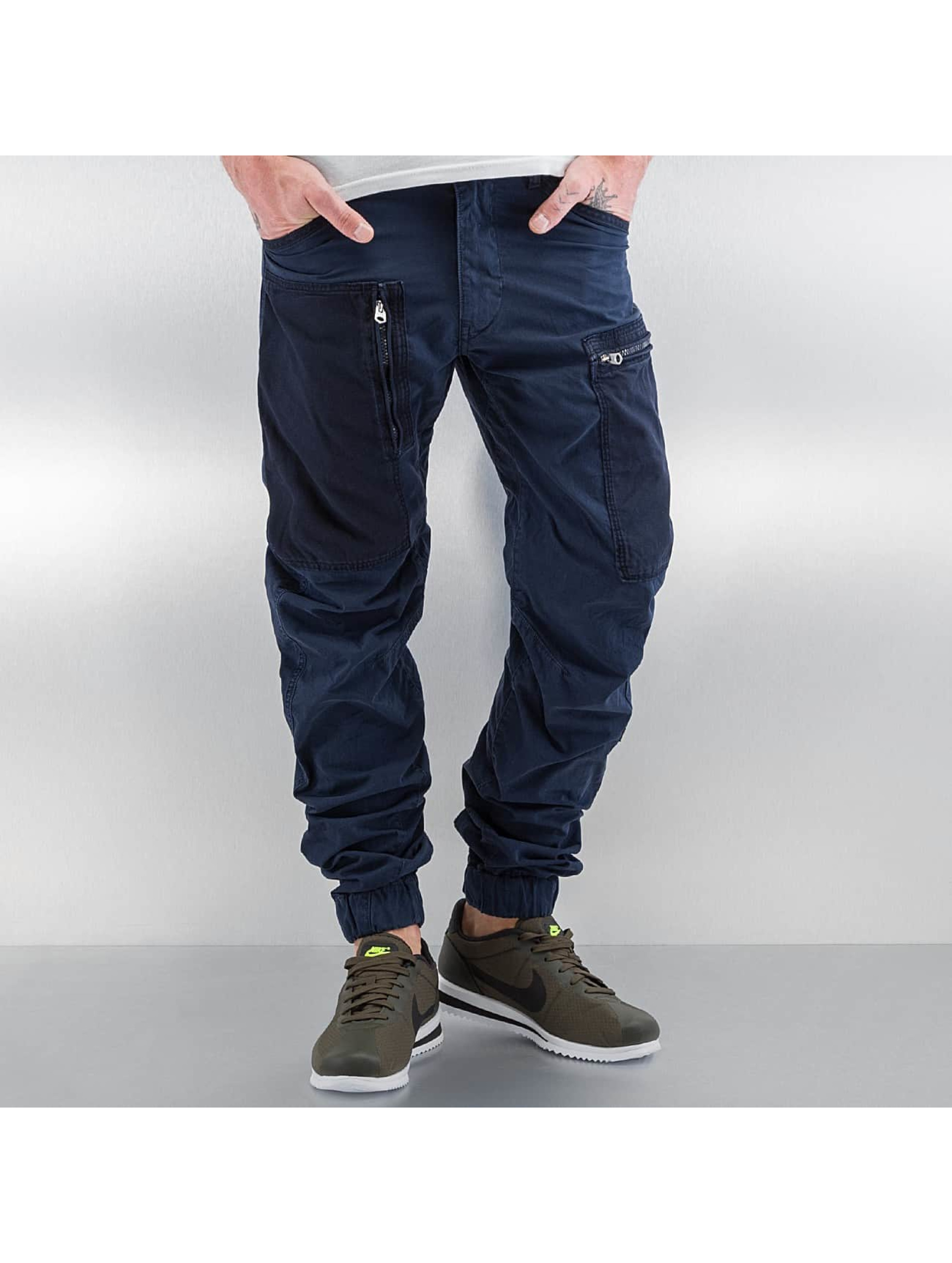G-Star Männer Cargohose Powel PM 3D Tapered Cuffed Scota Weave in blau