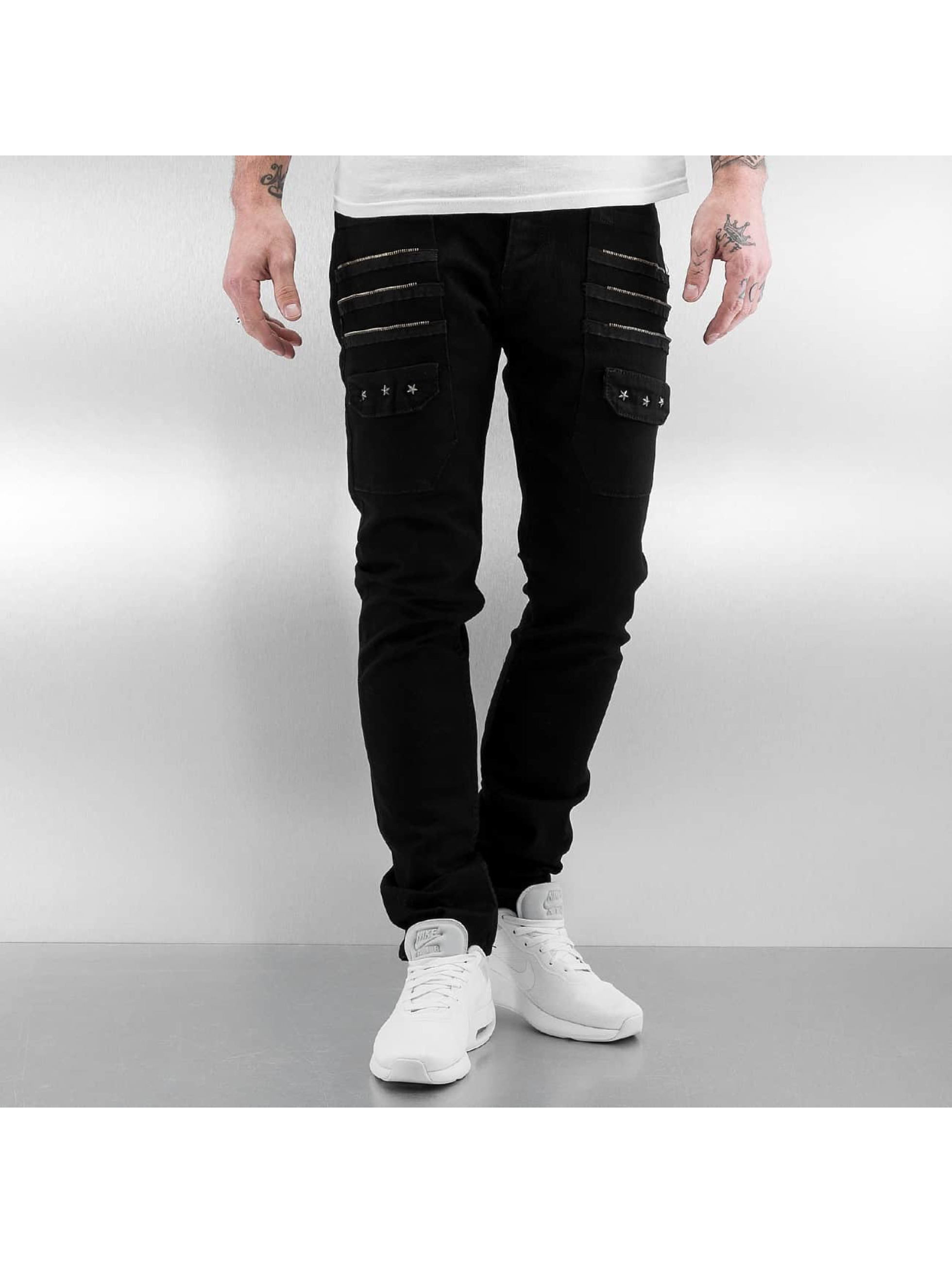 2Y Zip Fastener Slim Fit Jeans Black Sale Angebote Reuthen