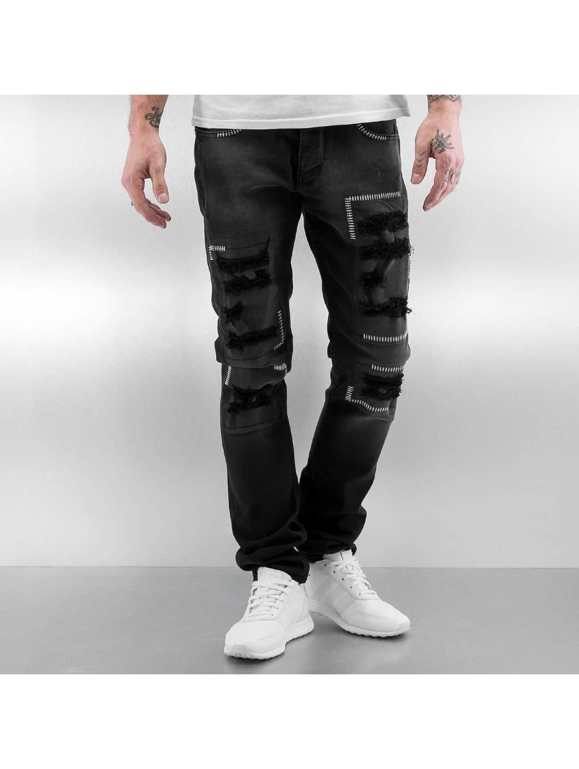 2Y / Slim Fit Jeans Stitch in black W 29