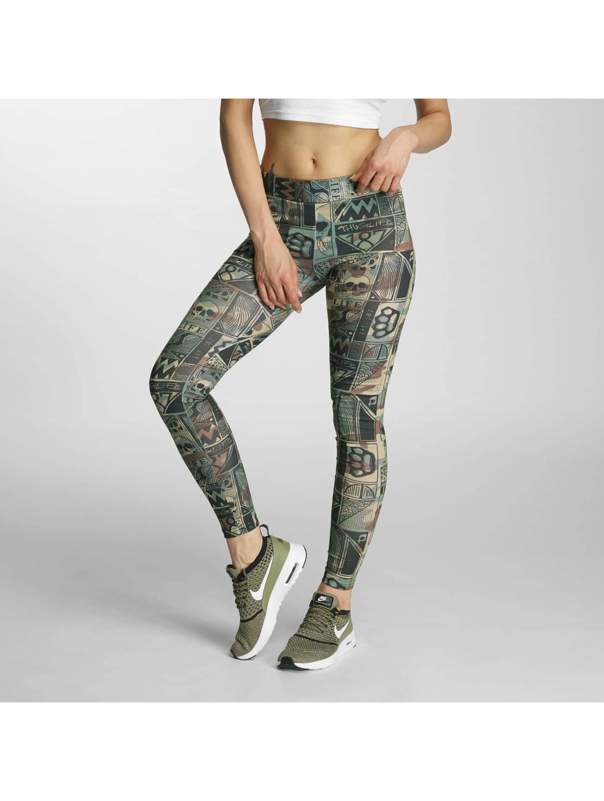 Thug Life / Legging/Tregging Broon in camouflage XXS