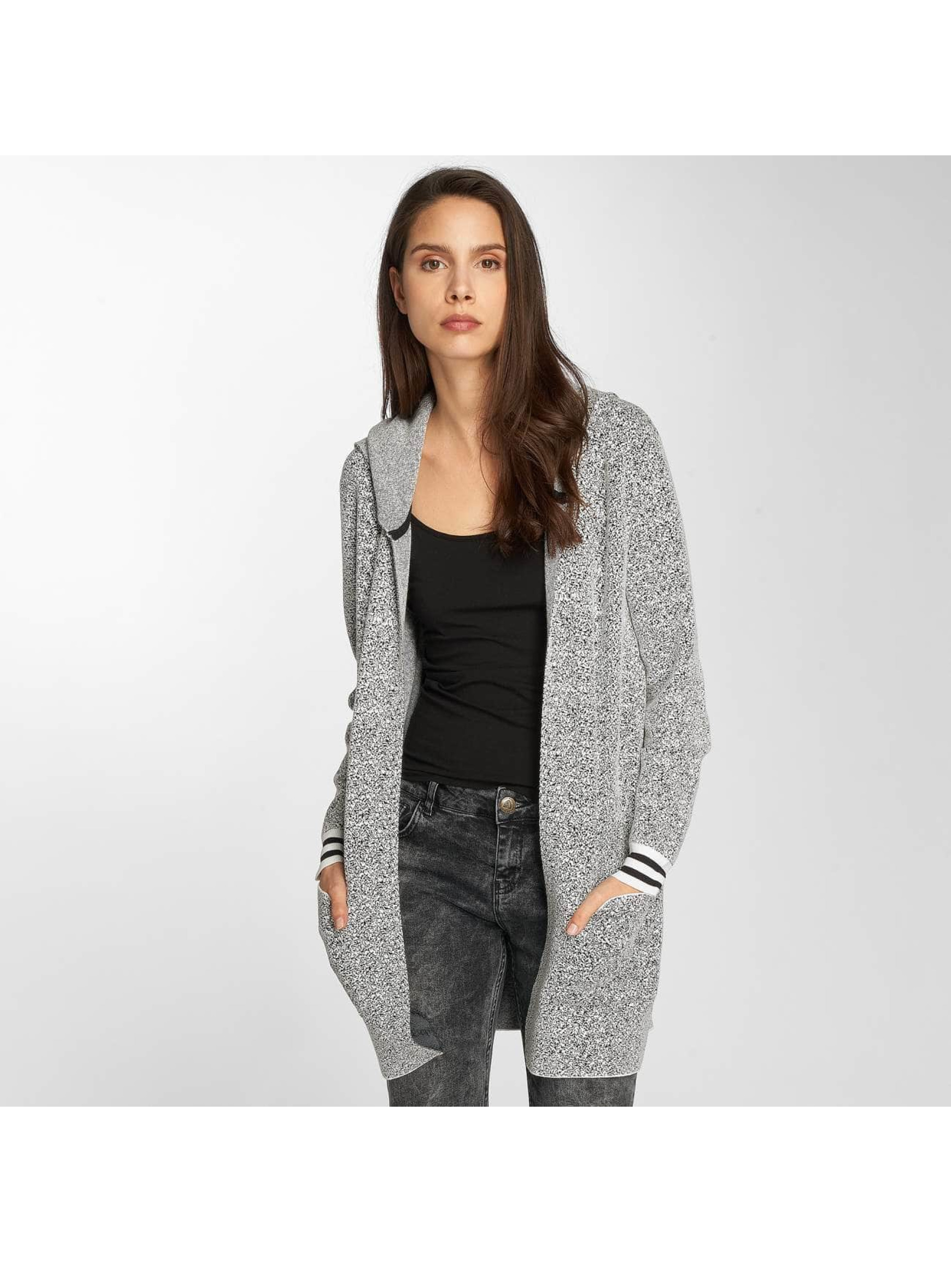 Bench Frauen Strickjacke Easy Pixels in grau