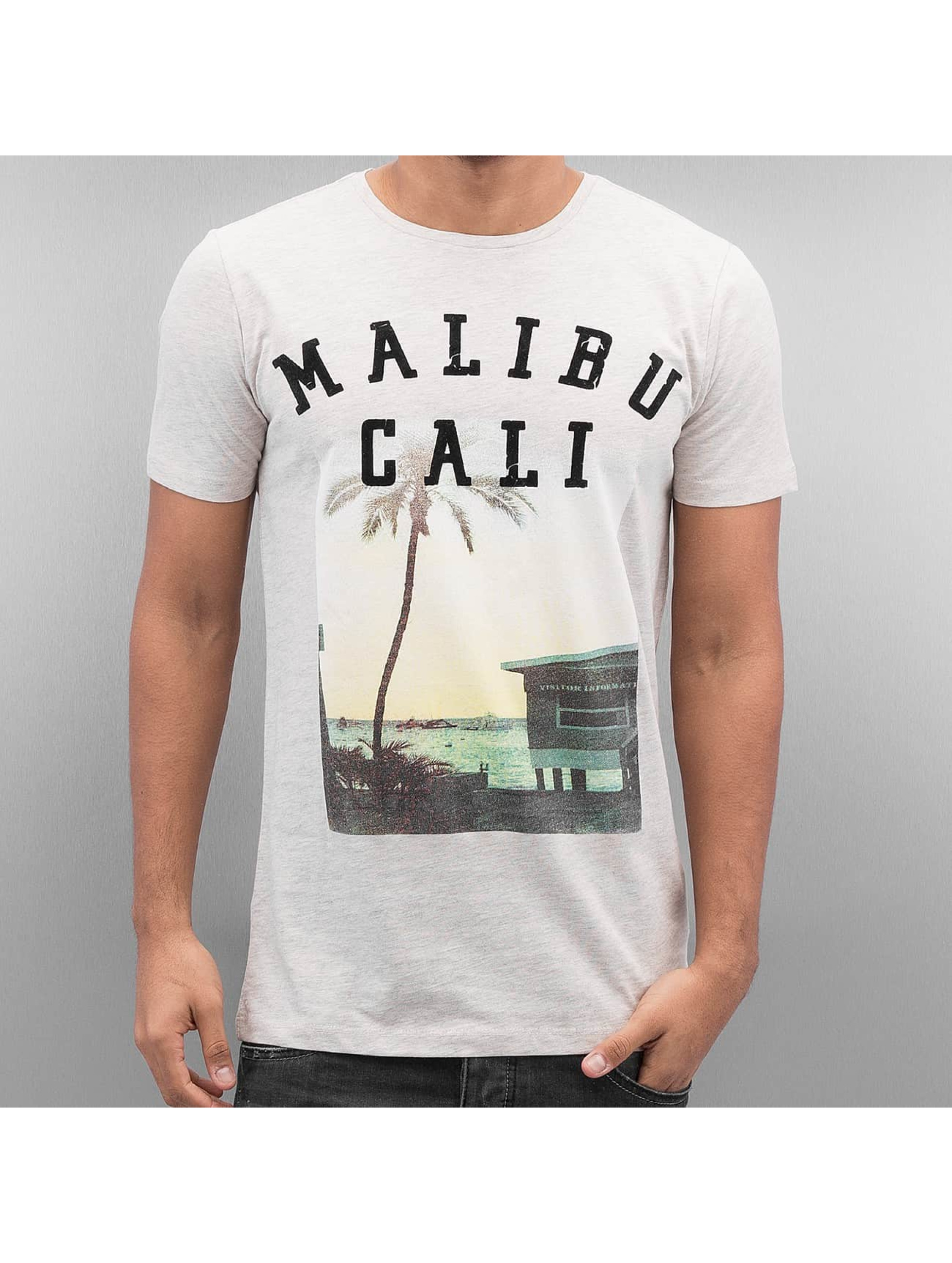 Lindbergh Photo Print T Shirt Light Grey Melange