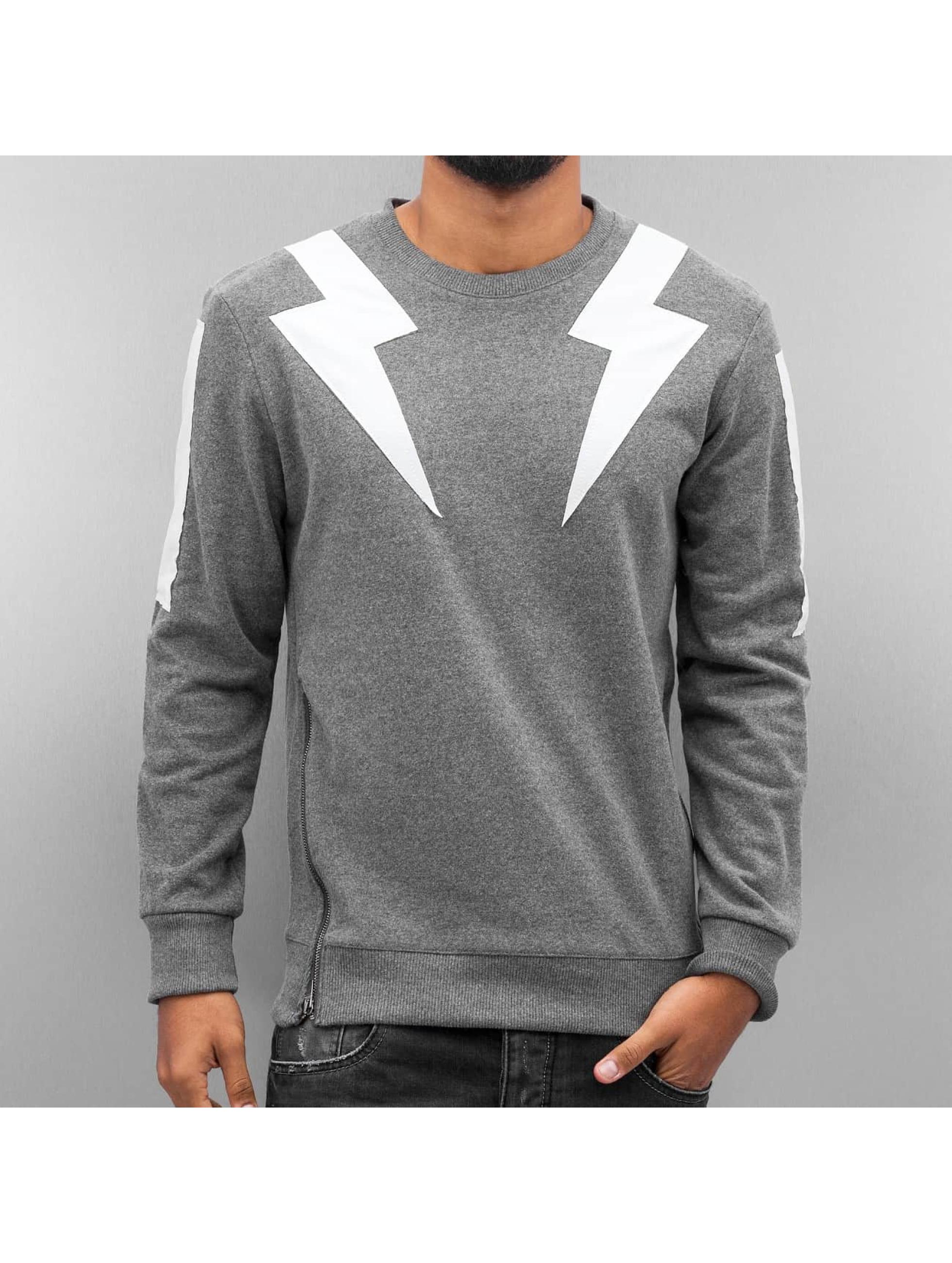 2Y Männer Pullover Lightning in grau