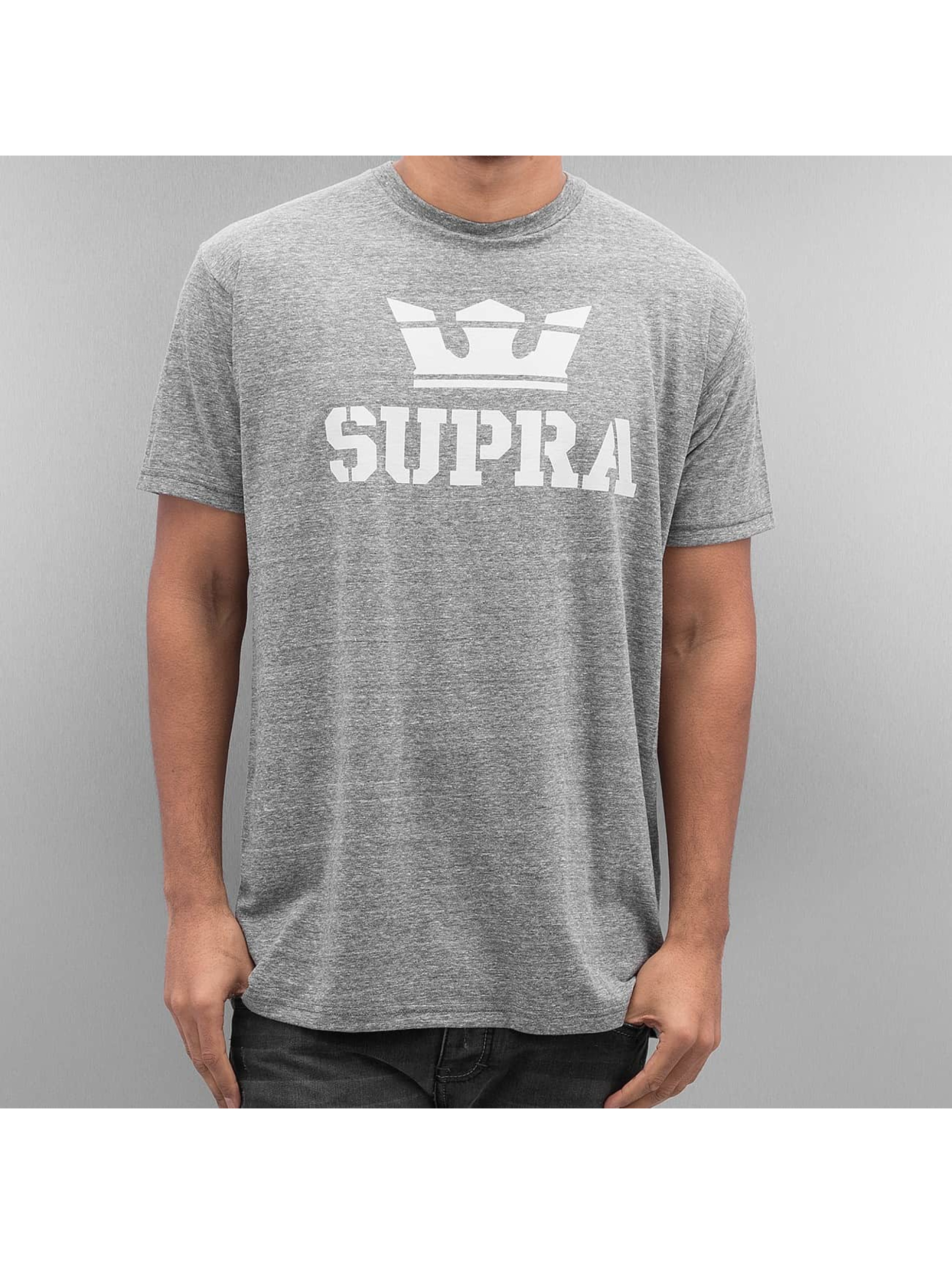 Supra Above T Shirt Grey Heather