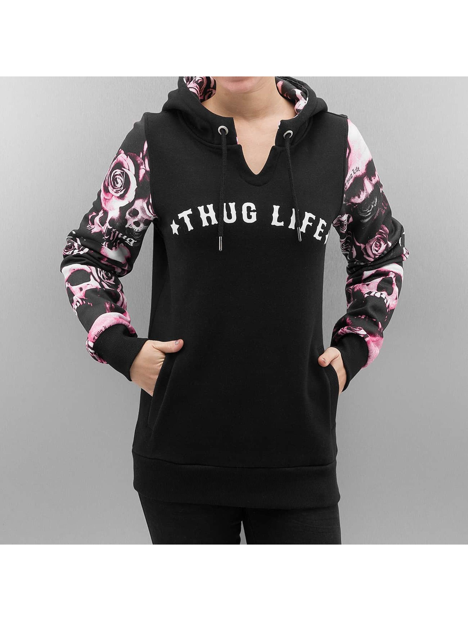 Thug Life / Hoodie Skullpattern in black XL