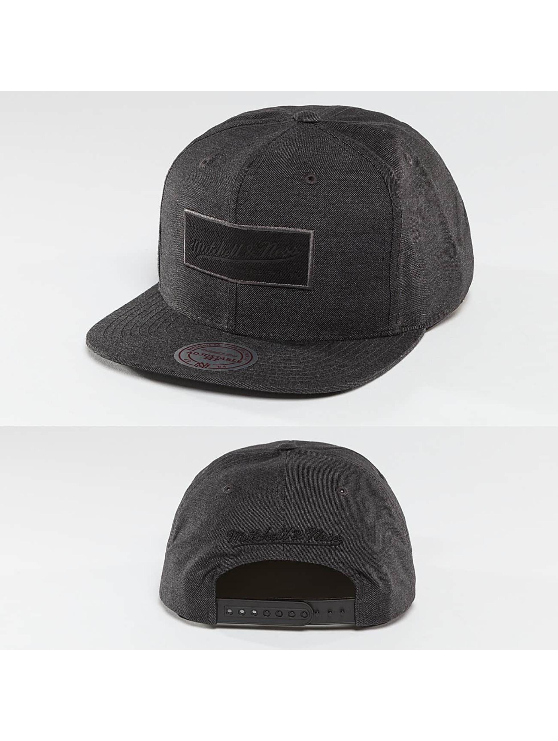 Mitchell & Ness Männer,Frauen Snapback Cap Cut Heather in schwarz