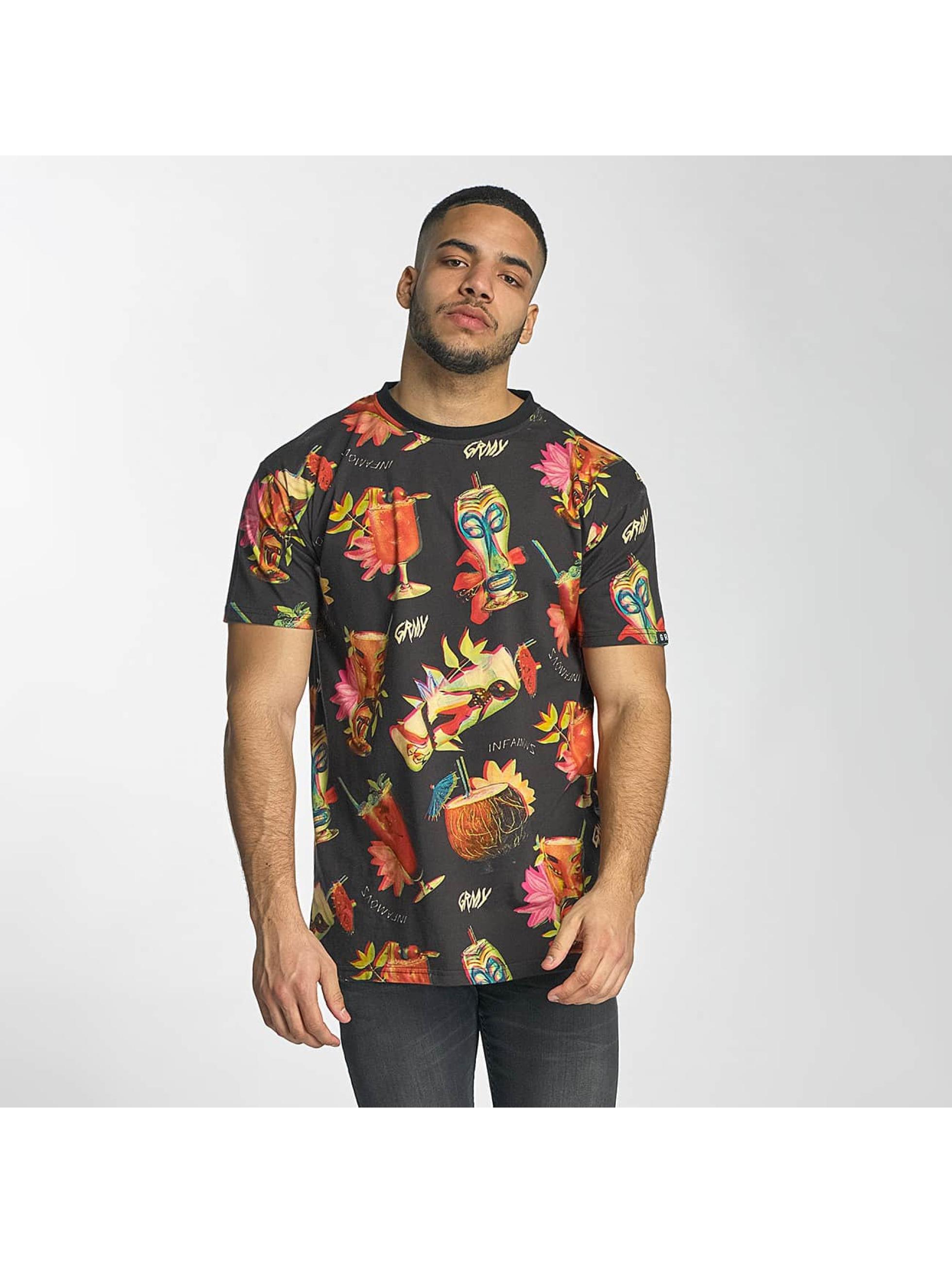 Grimey Wear Männer T-Shirt Drunken Devil in schwarz
