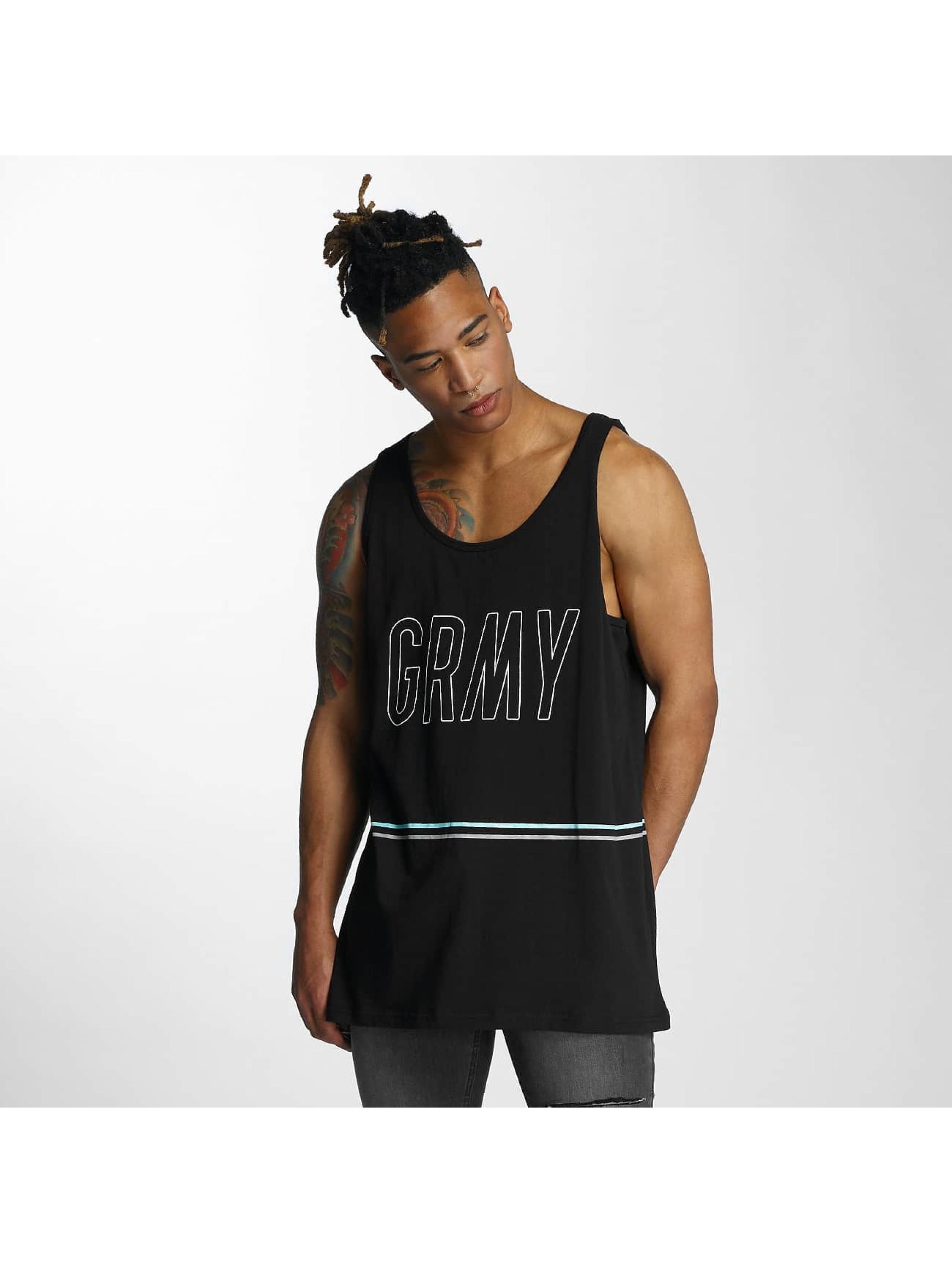 Grimey Wear Männer Tank Tops Rock Creek Park in schwarz