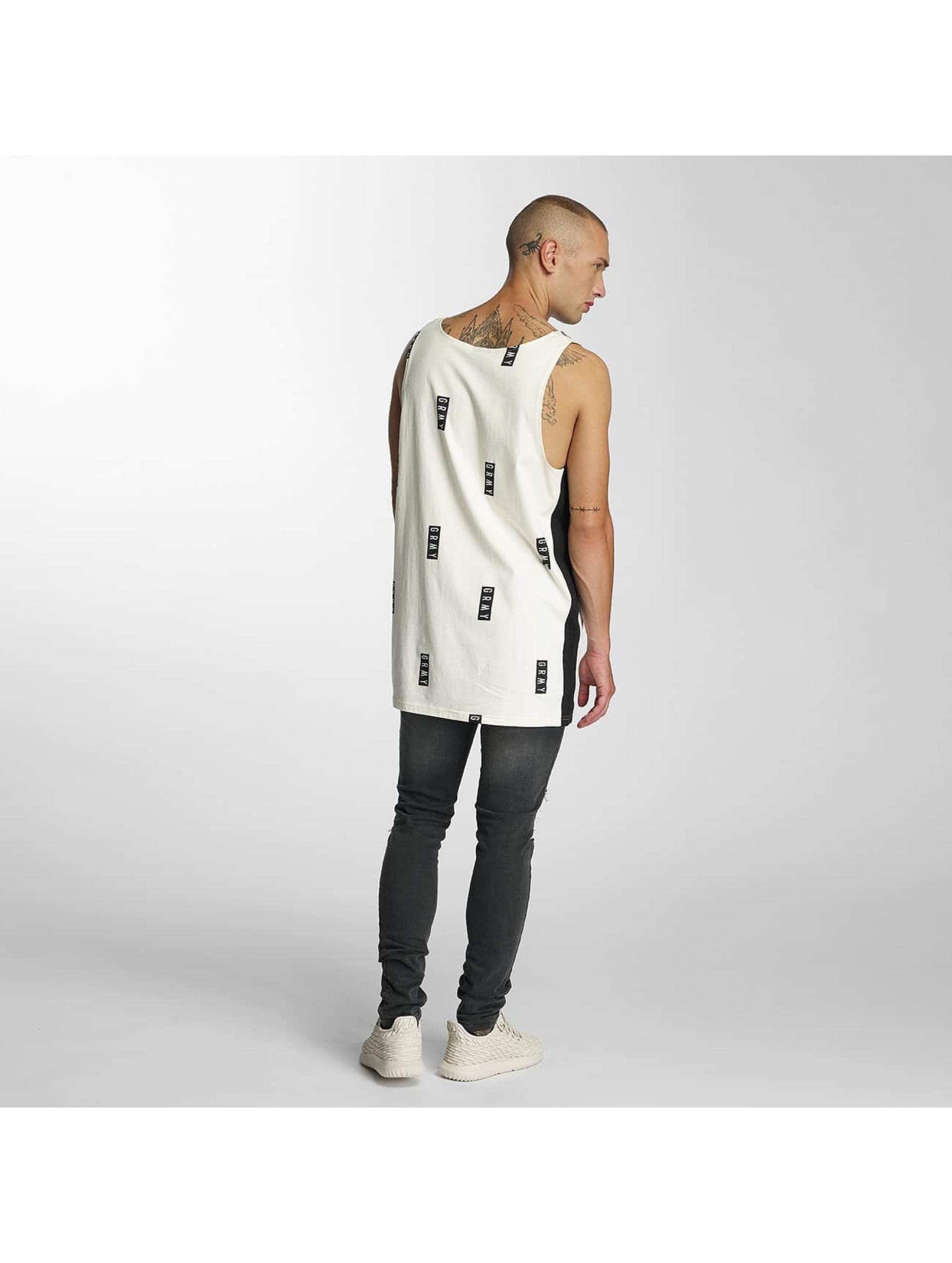 Grimey Wear Männer Tank Tops Stick Up in weiß