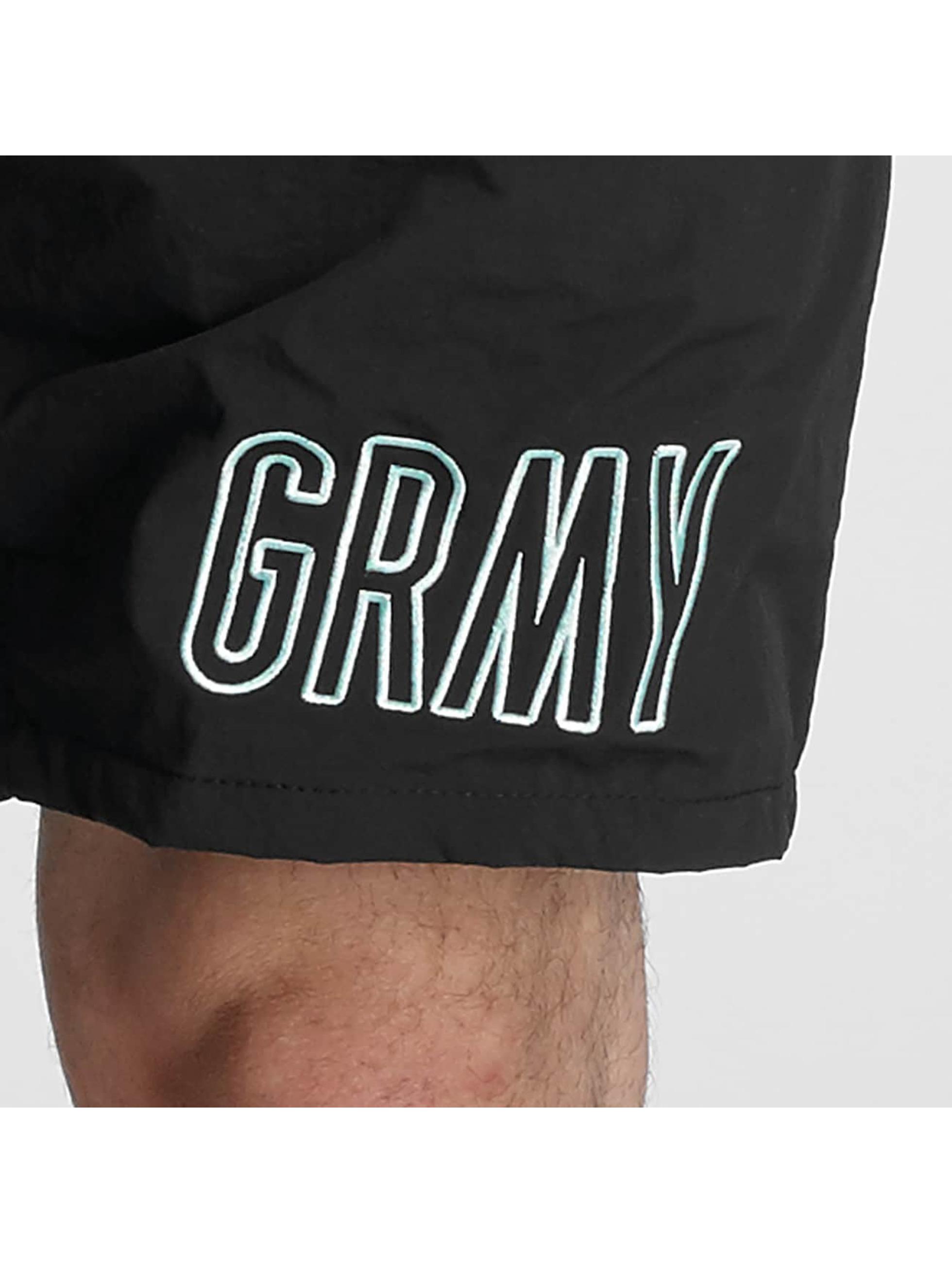 Grimey Wear Männer Badeshorts Rock Creek in schwarz