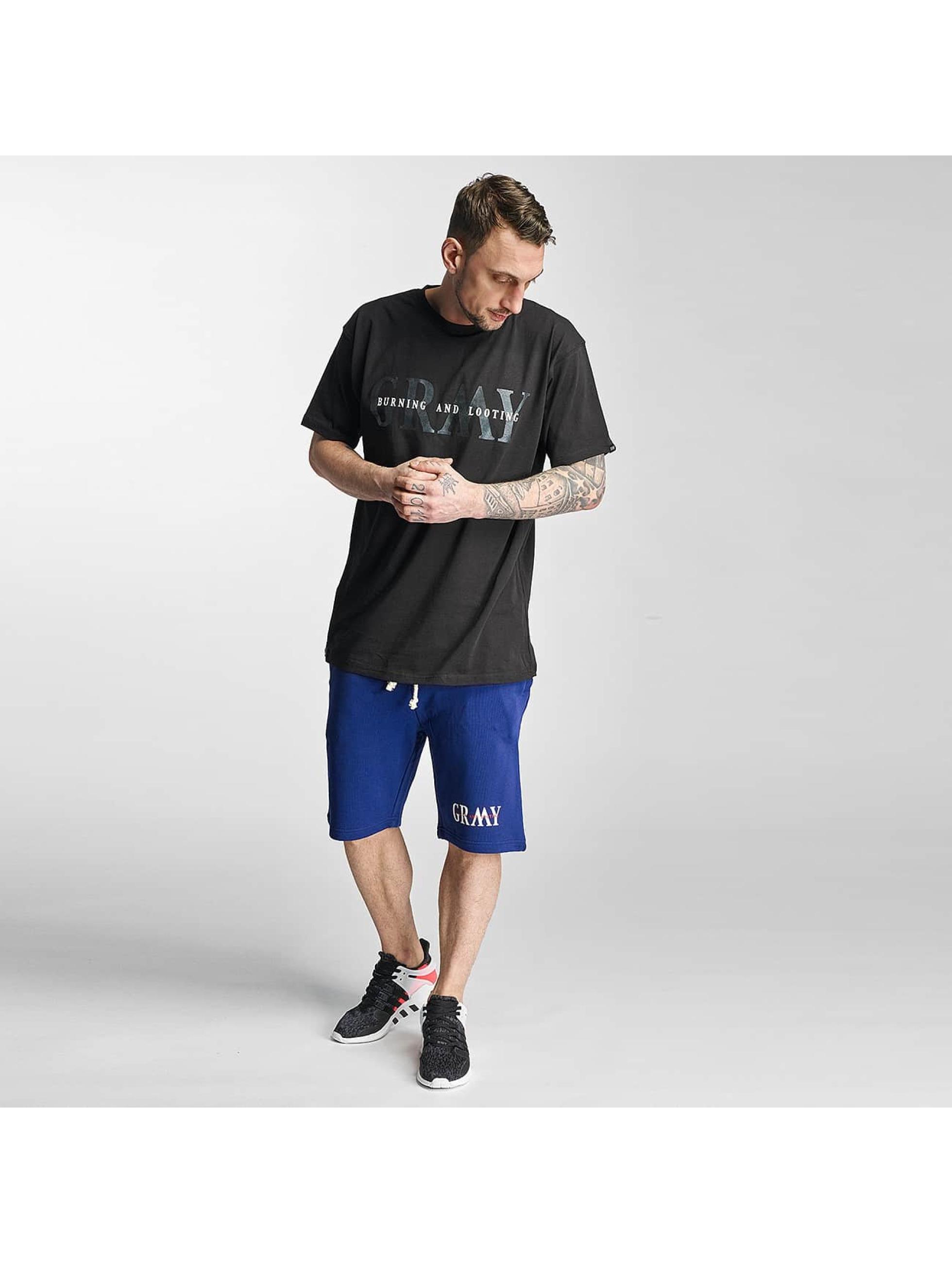 Grimey Wear Männer Shorts Mist Blues in blau