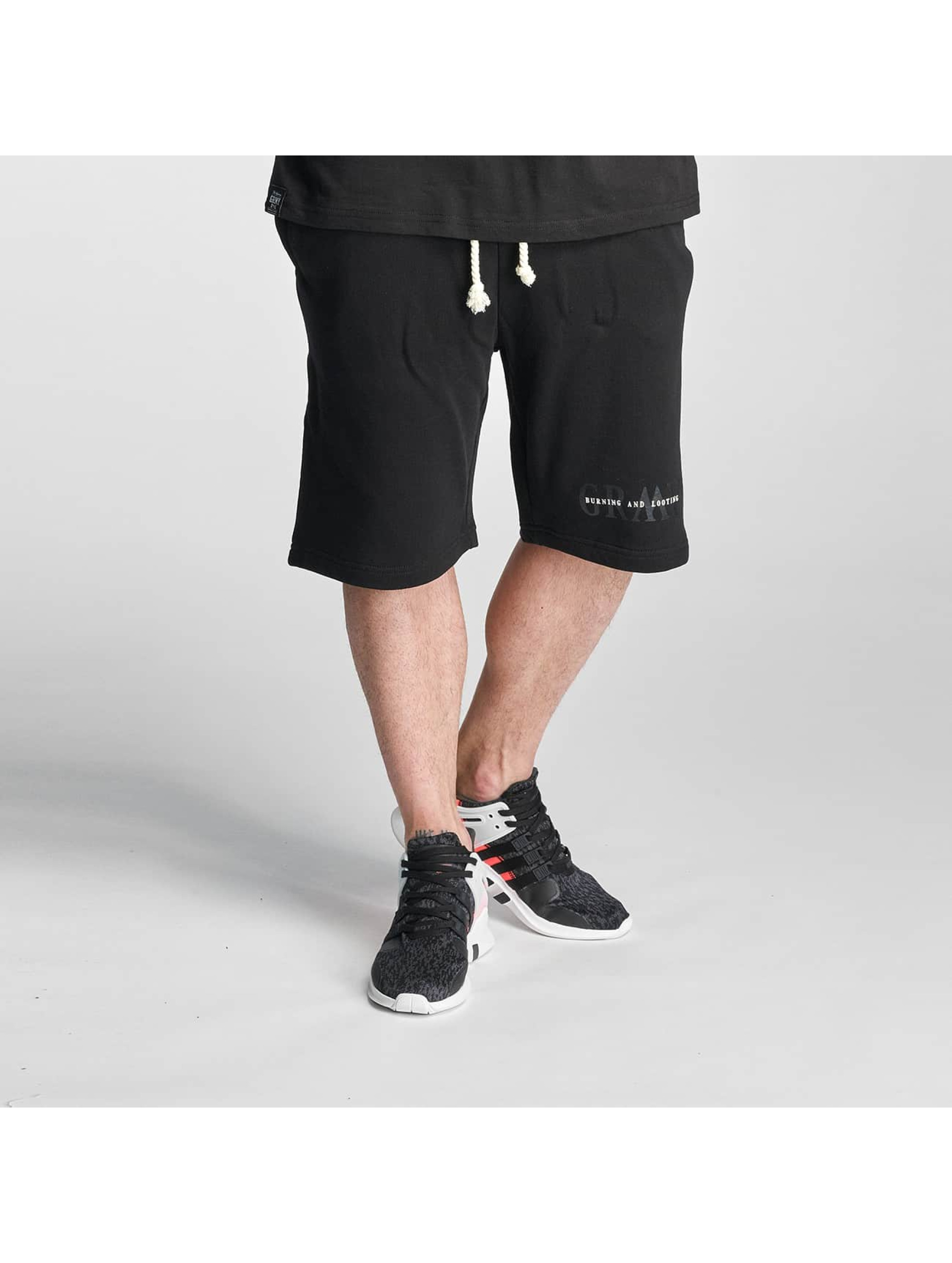 Grimey Wear Männer Shorts Mist Blues in schwarz