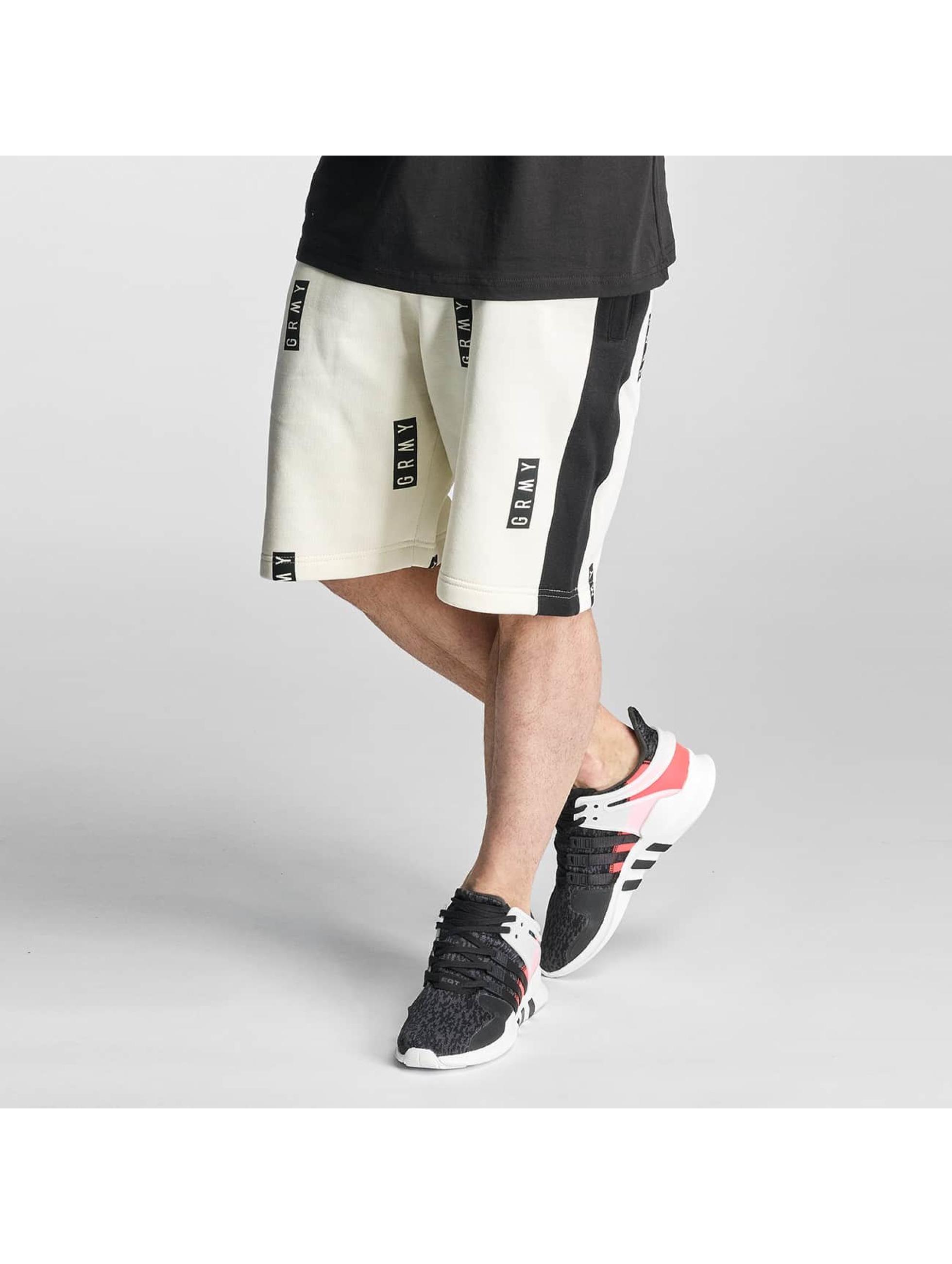 Grimey Wear Männer Shorts Stick Up in weiß - broschei