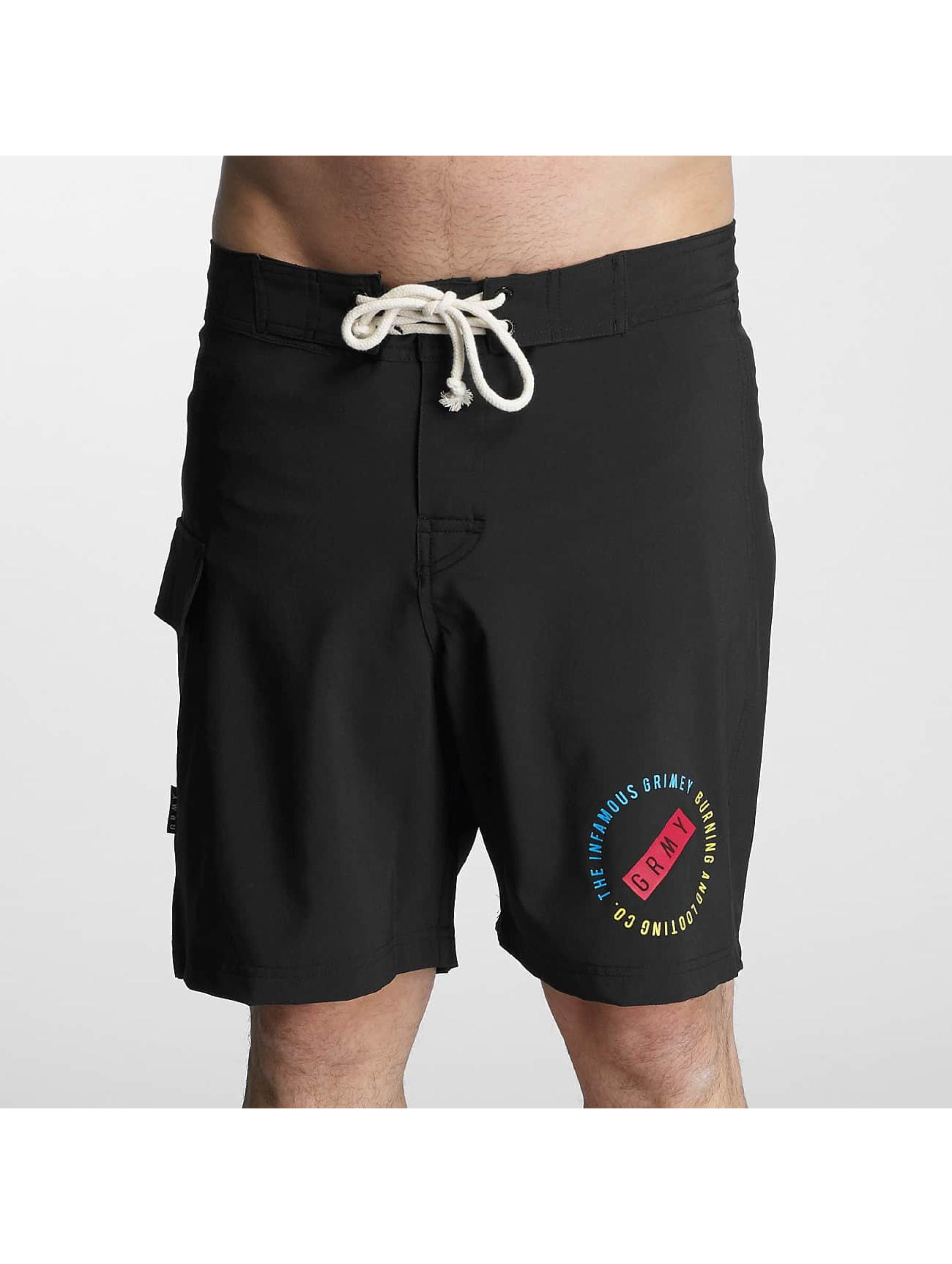 Grimey Wear Männer Badeshorts Stick Up in schwarz