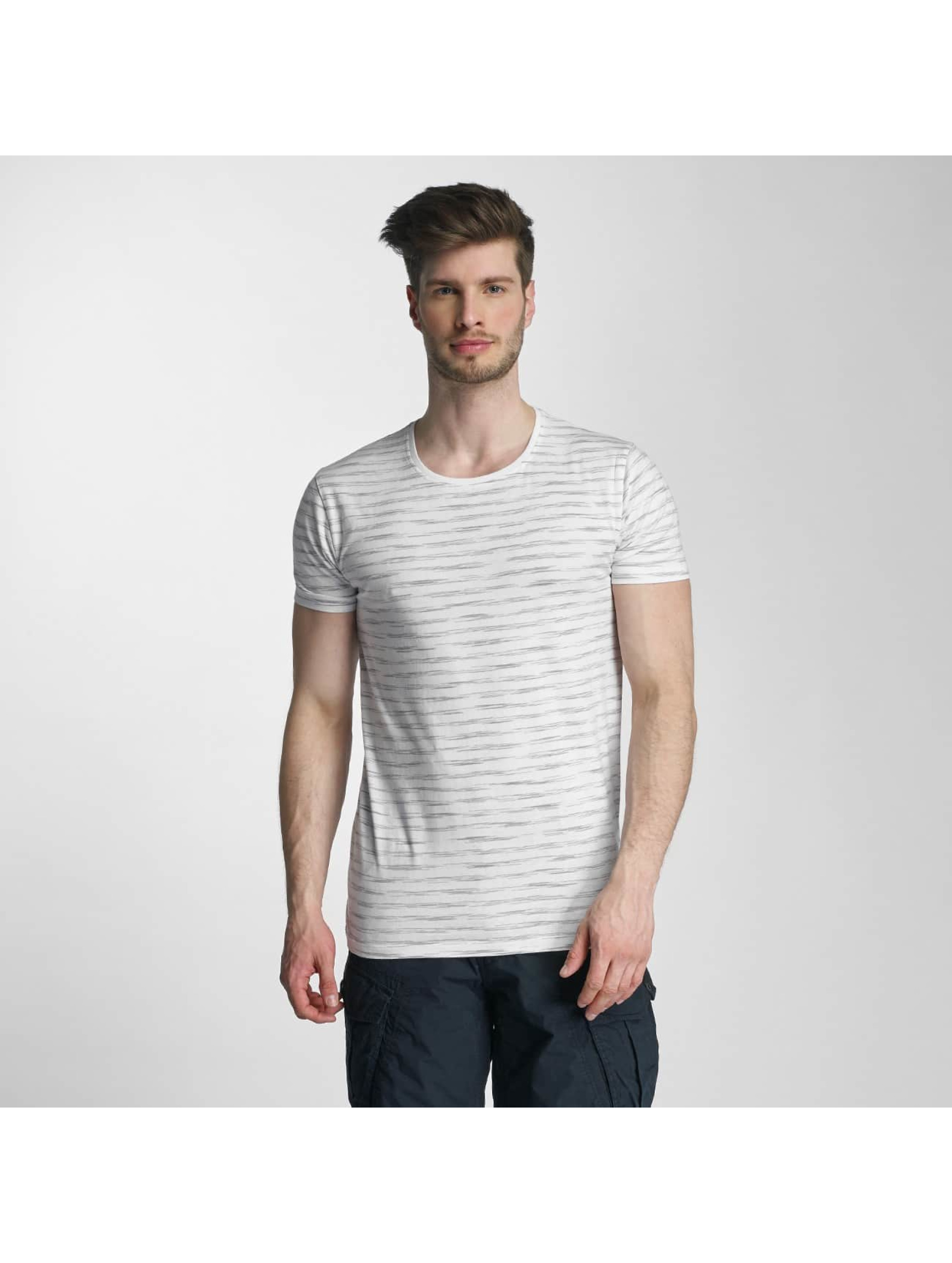 Lindbergh Männer T-Shirt Yarn Dyed Striped in grau