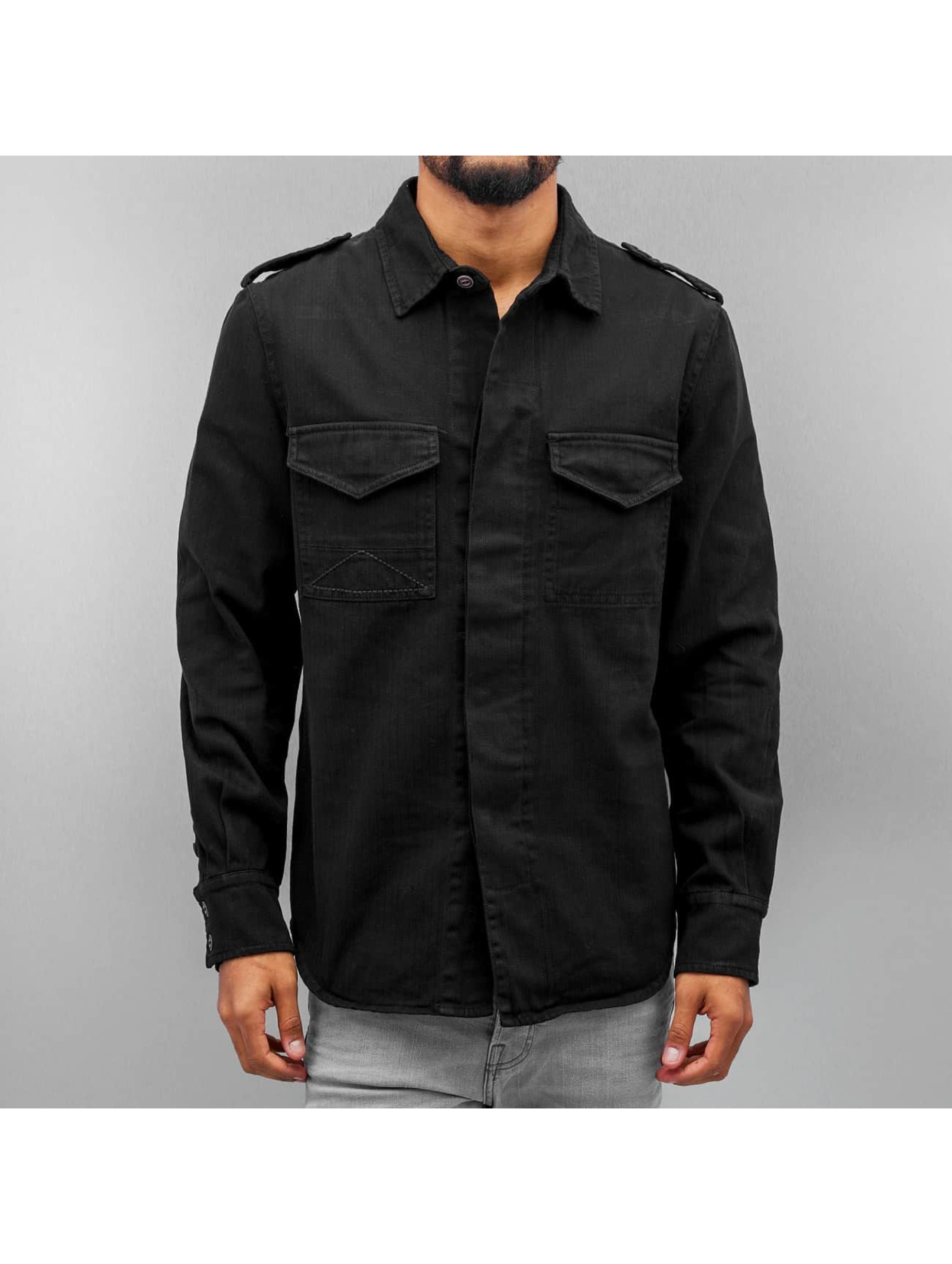 Amsterdenim Männer Hemd Tinus in schwarz