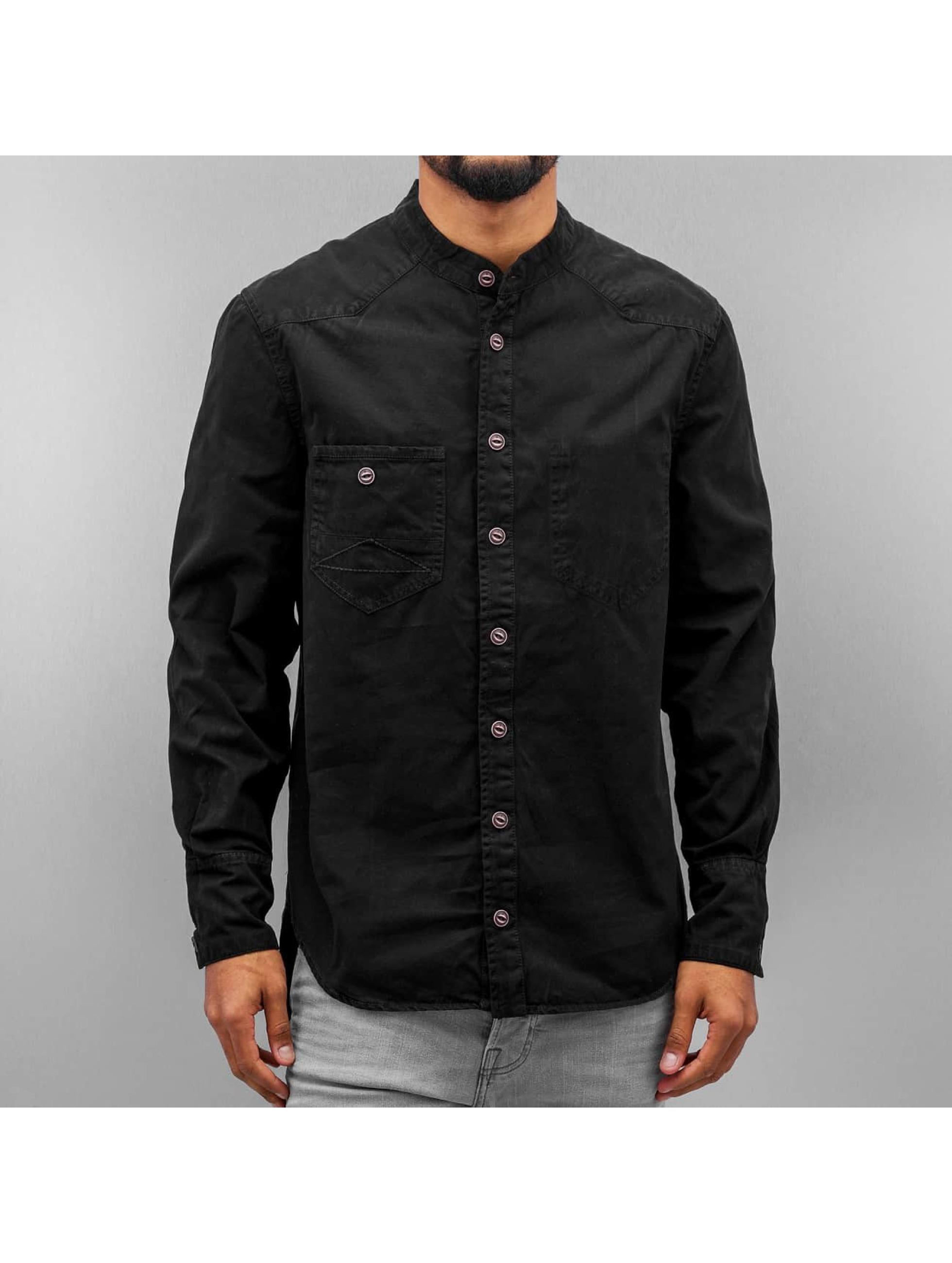 Amsterdenim Männer Hemd Wim in schwarz