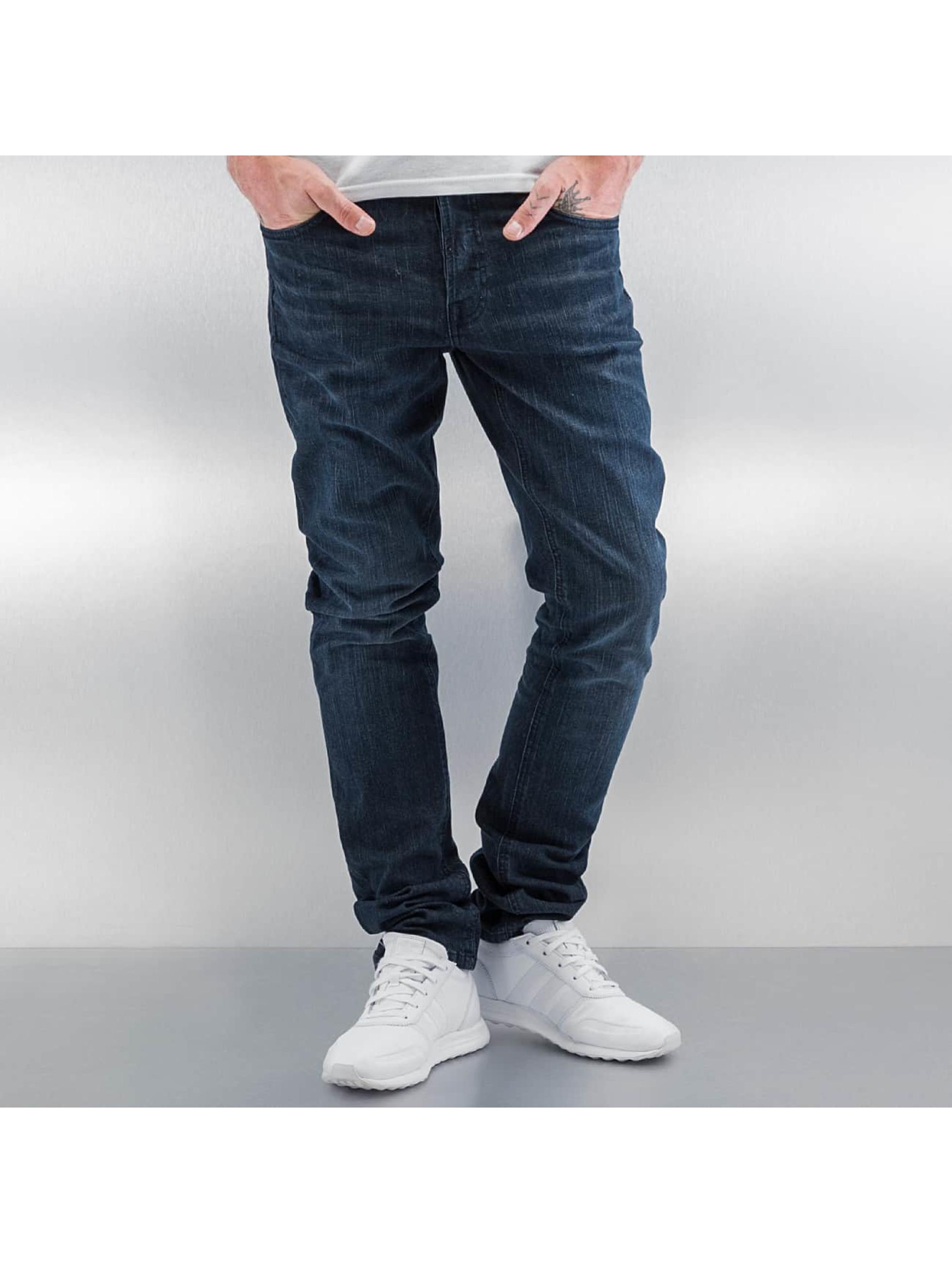 Amsterdenim Männer Skinny Jeans Wash in blau
