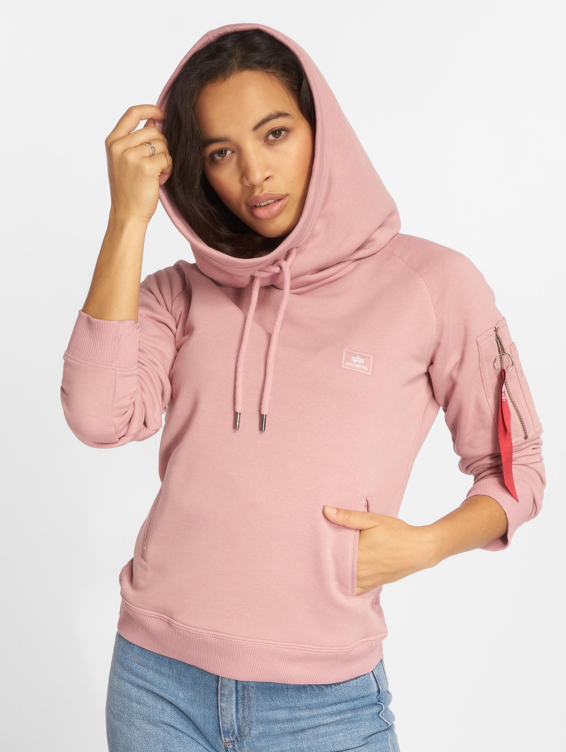 Alpha Industries Frauen Hoody X-Fit in pink