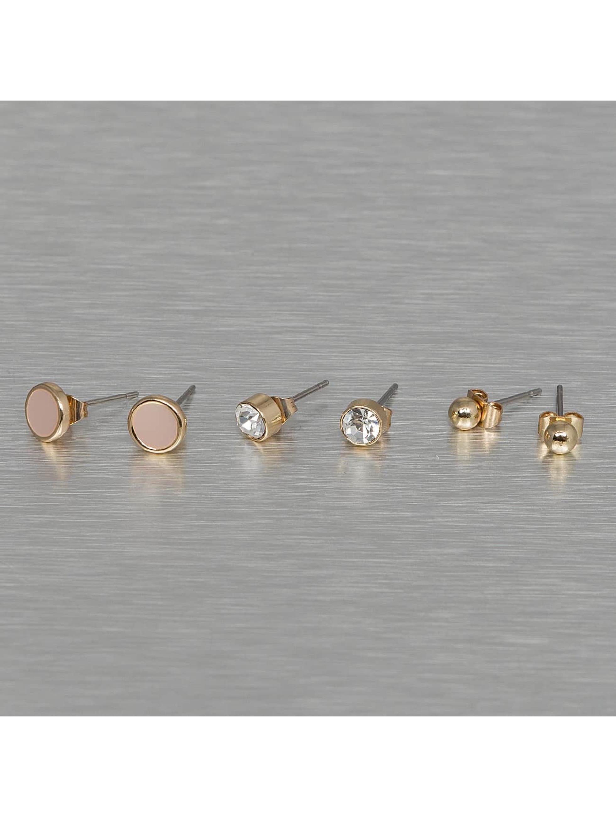 Pieces Frauen Ohrringe pcMalle New Basic in goldfarben