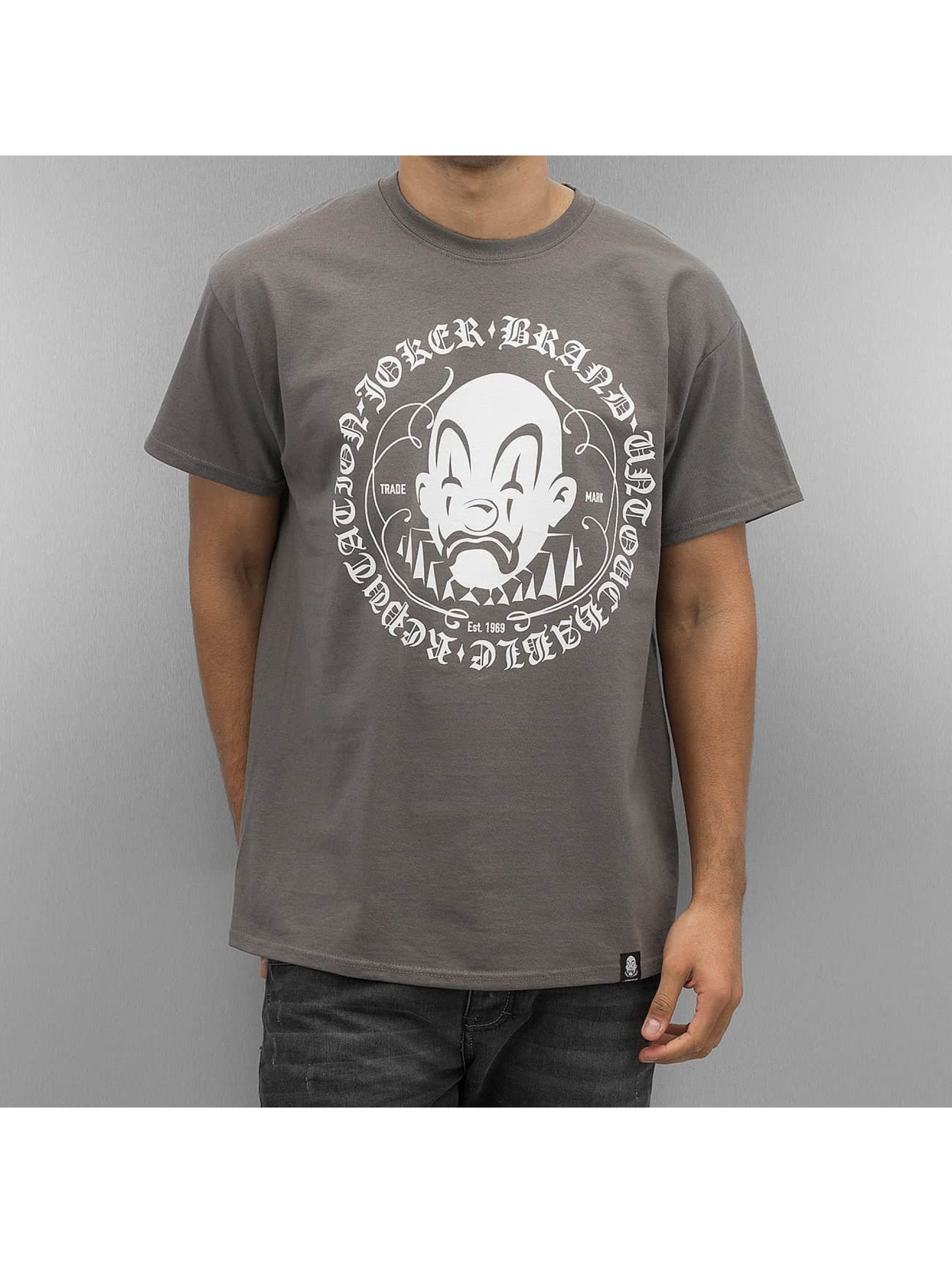 Joker Männer T-Shirt Circle Clown in grau