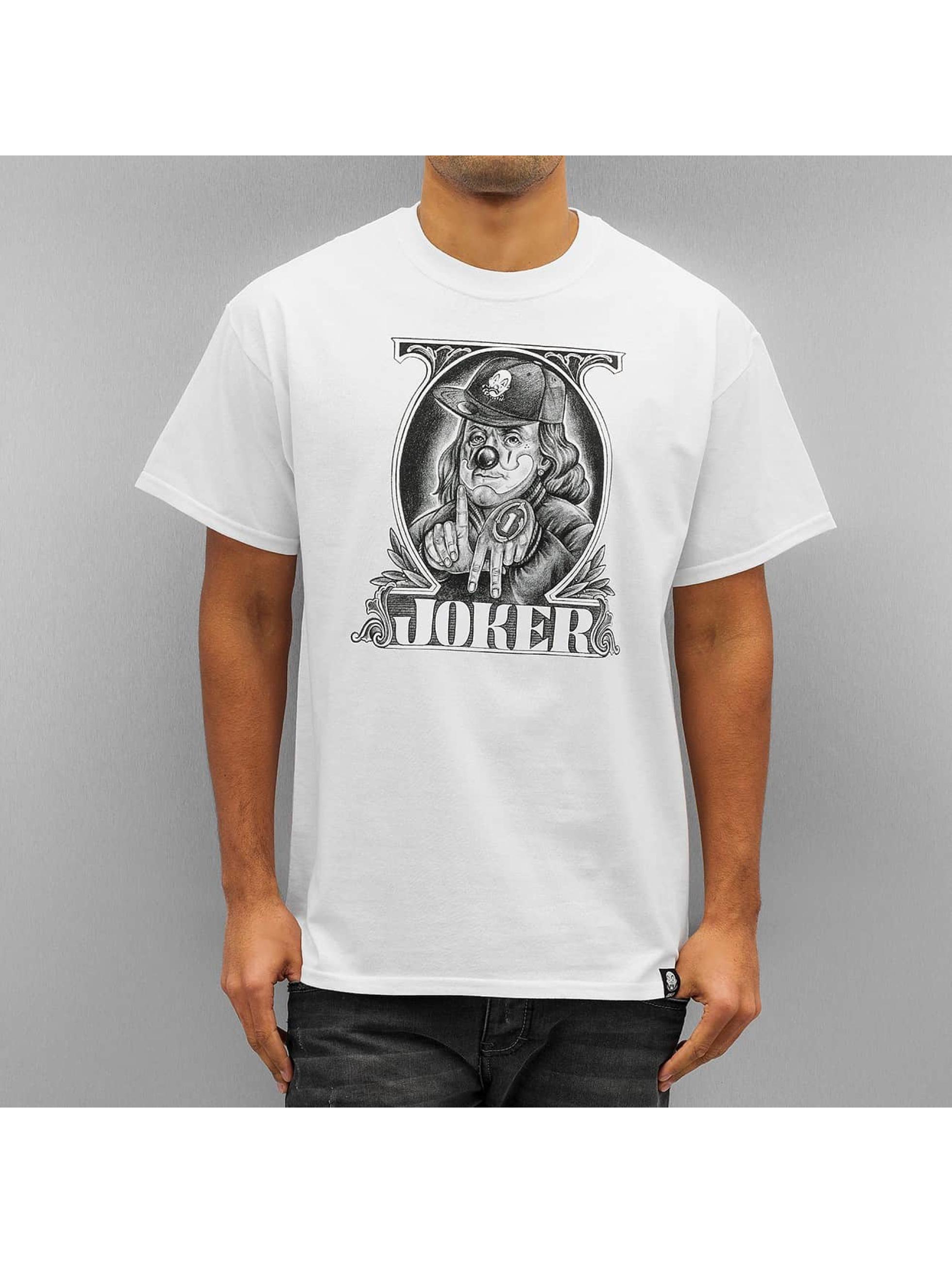 Joker Männer T-Shirt Ben Baller in weiß
