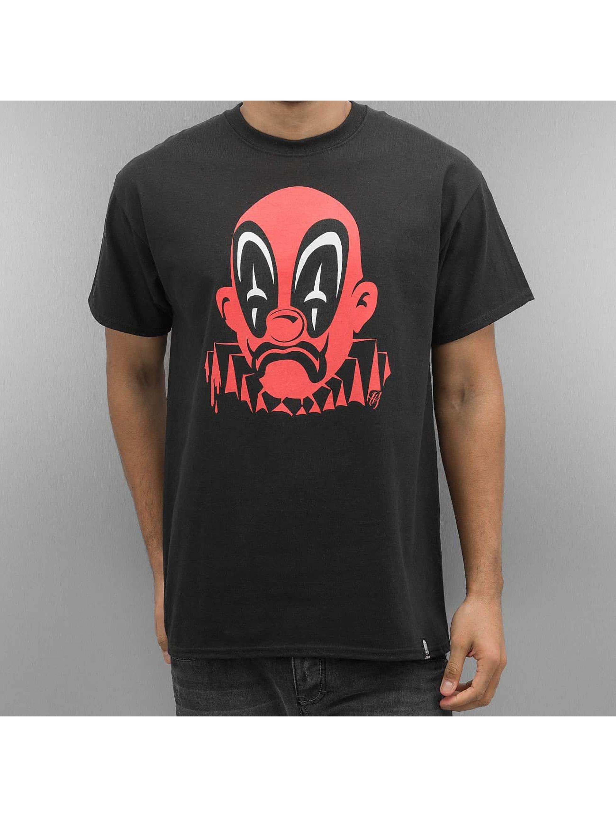 Joker Männer T-Shirt Deadpool Clown in schwarz