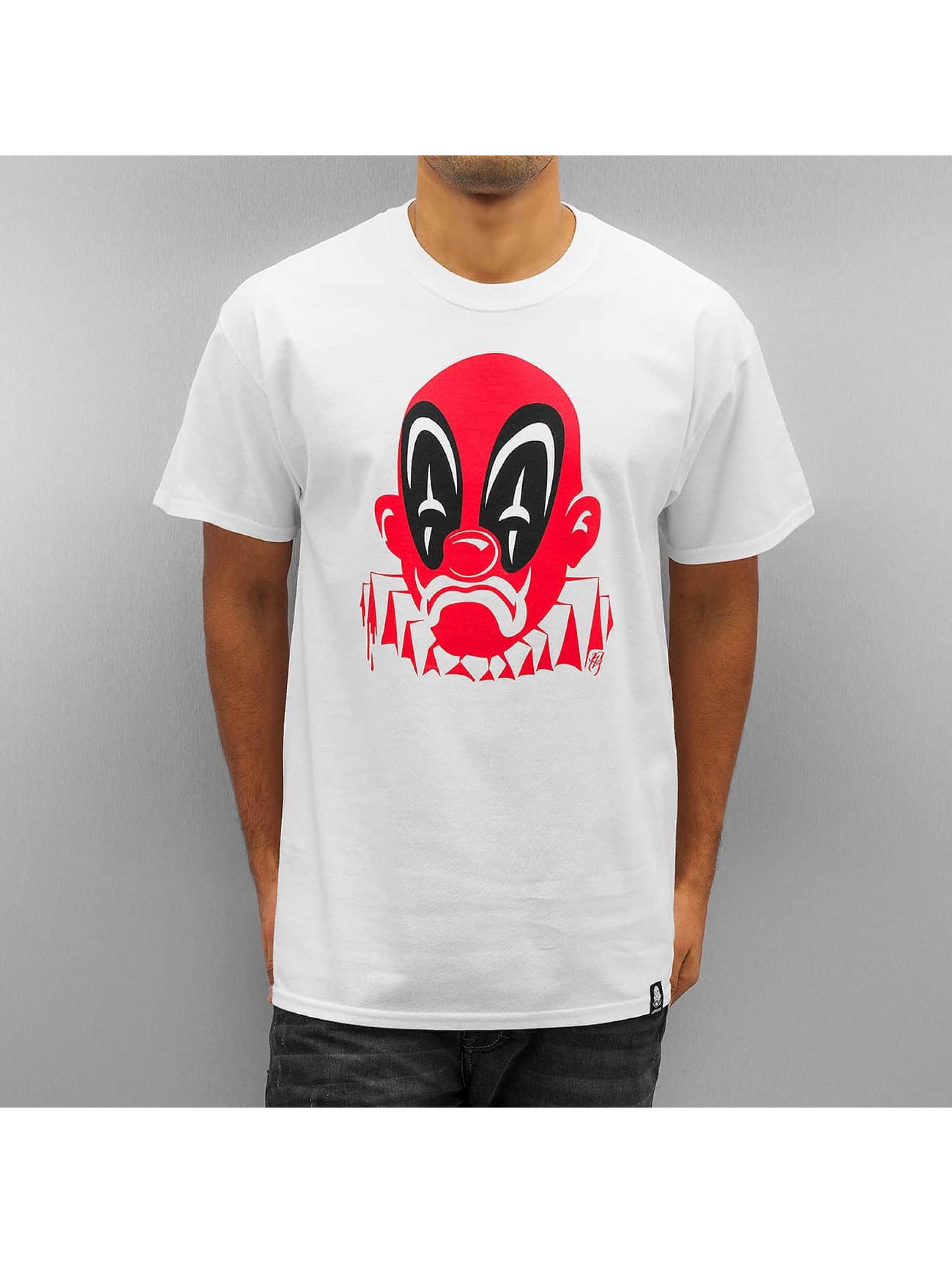 Joker Männer T-Shirt Deadpool Clown in weiß