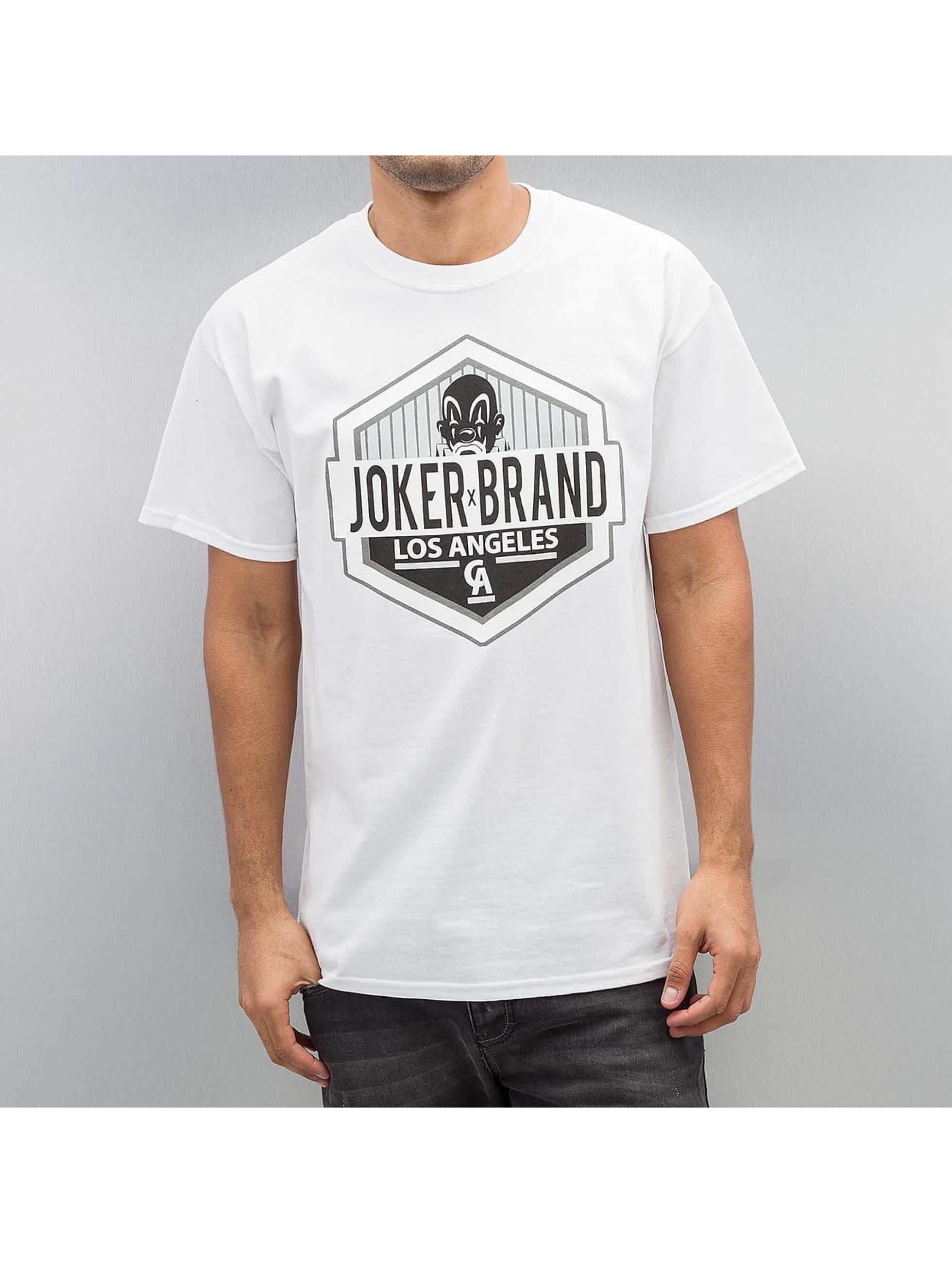 Joker Männer T-Shirt LA CA in weiß