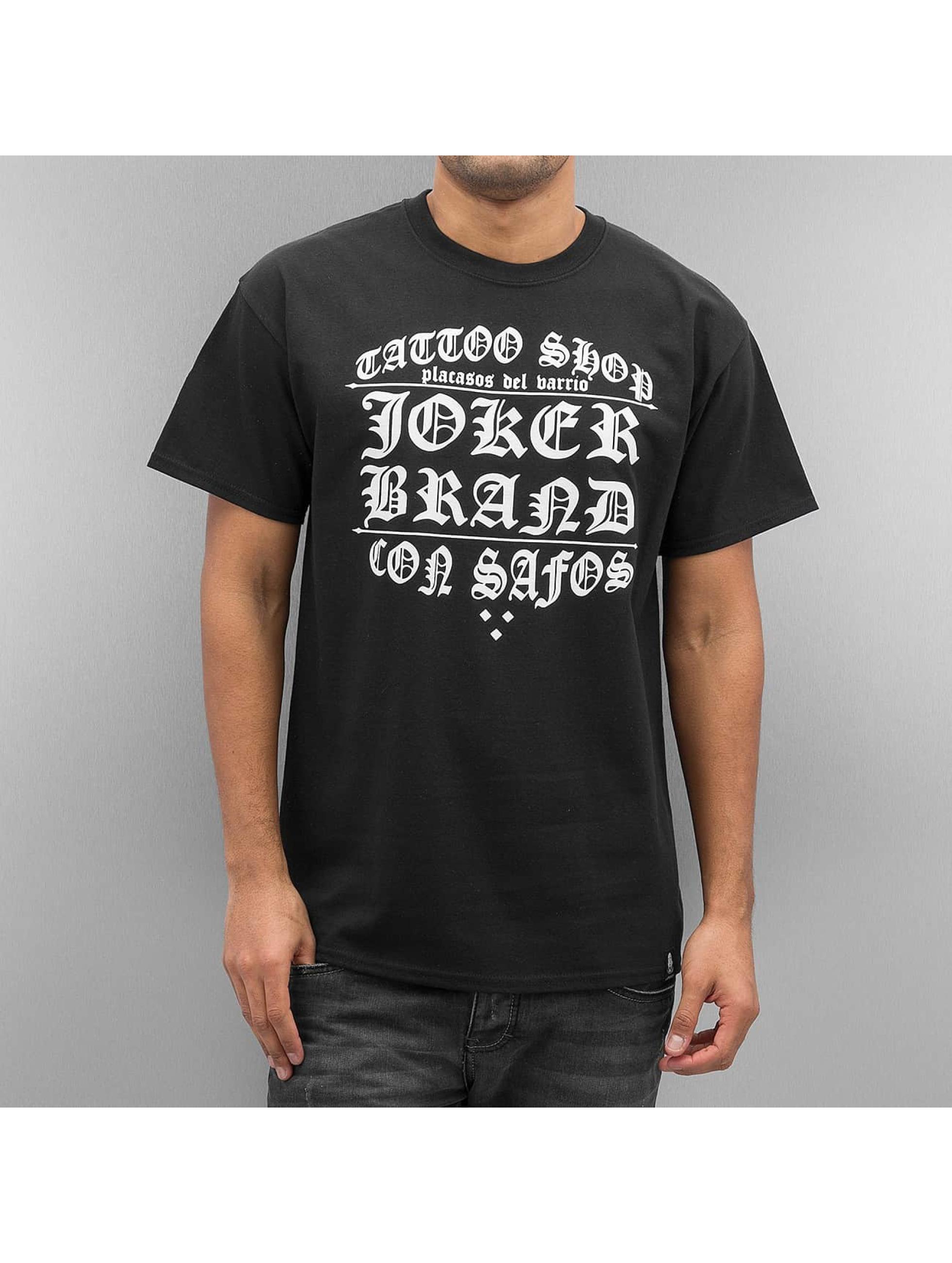 Joker Männer T-Shirt Tattoo Shop in schwarz