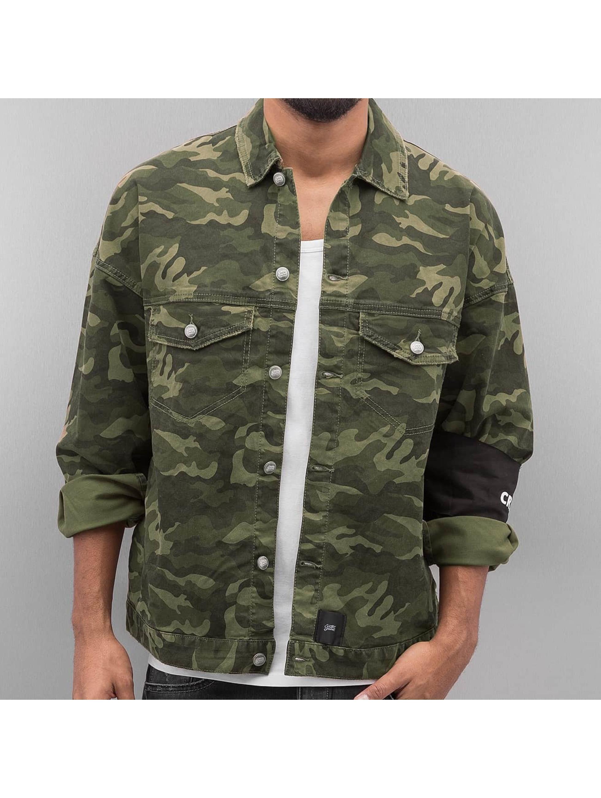 Sixth June Männer Übergangsjacke Oversized Denim in camouflage Sale Angebote Kathlow