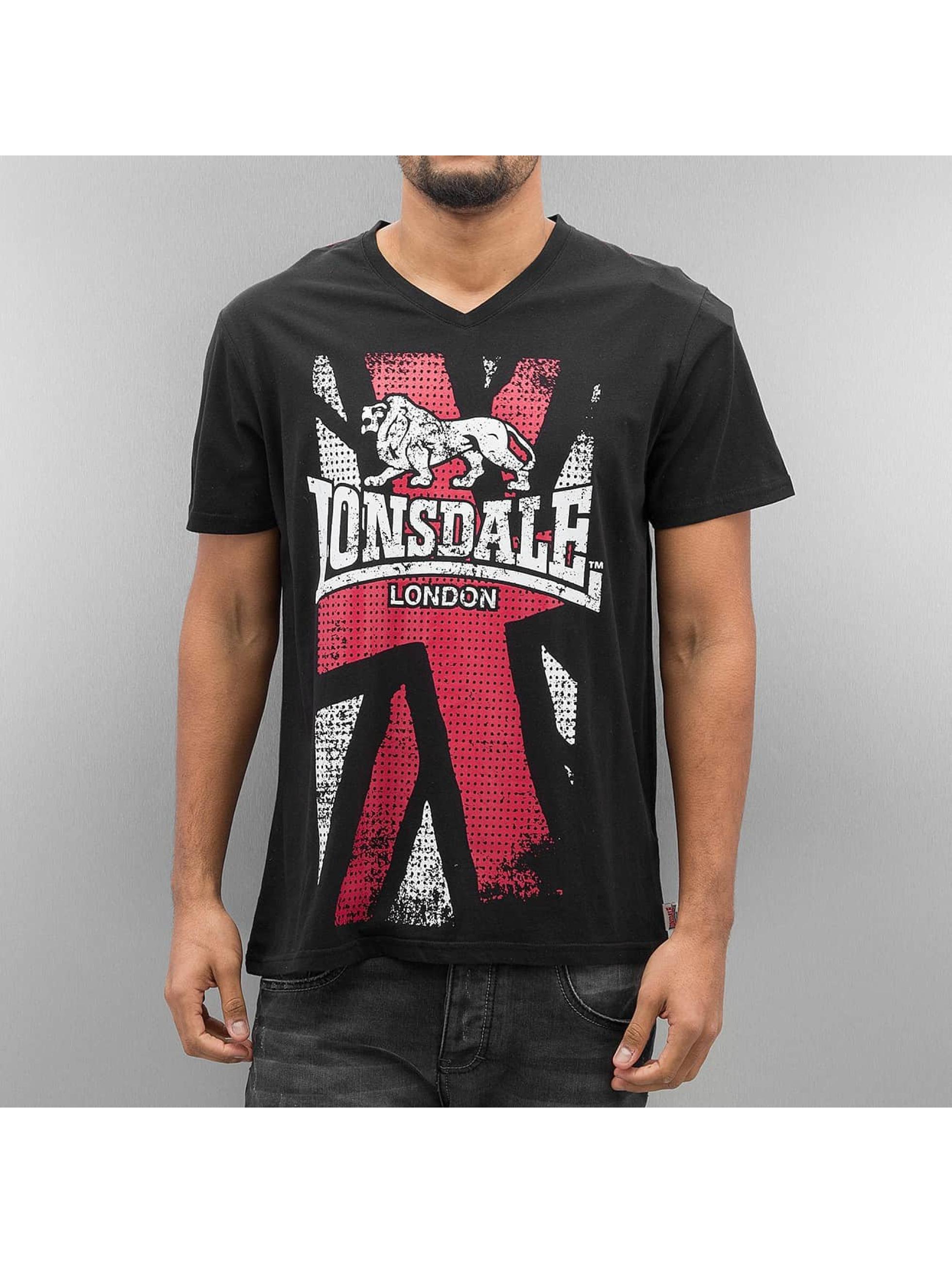Lonsdale London Männer T-Shirt Denholm in schwarz