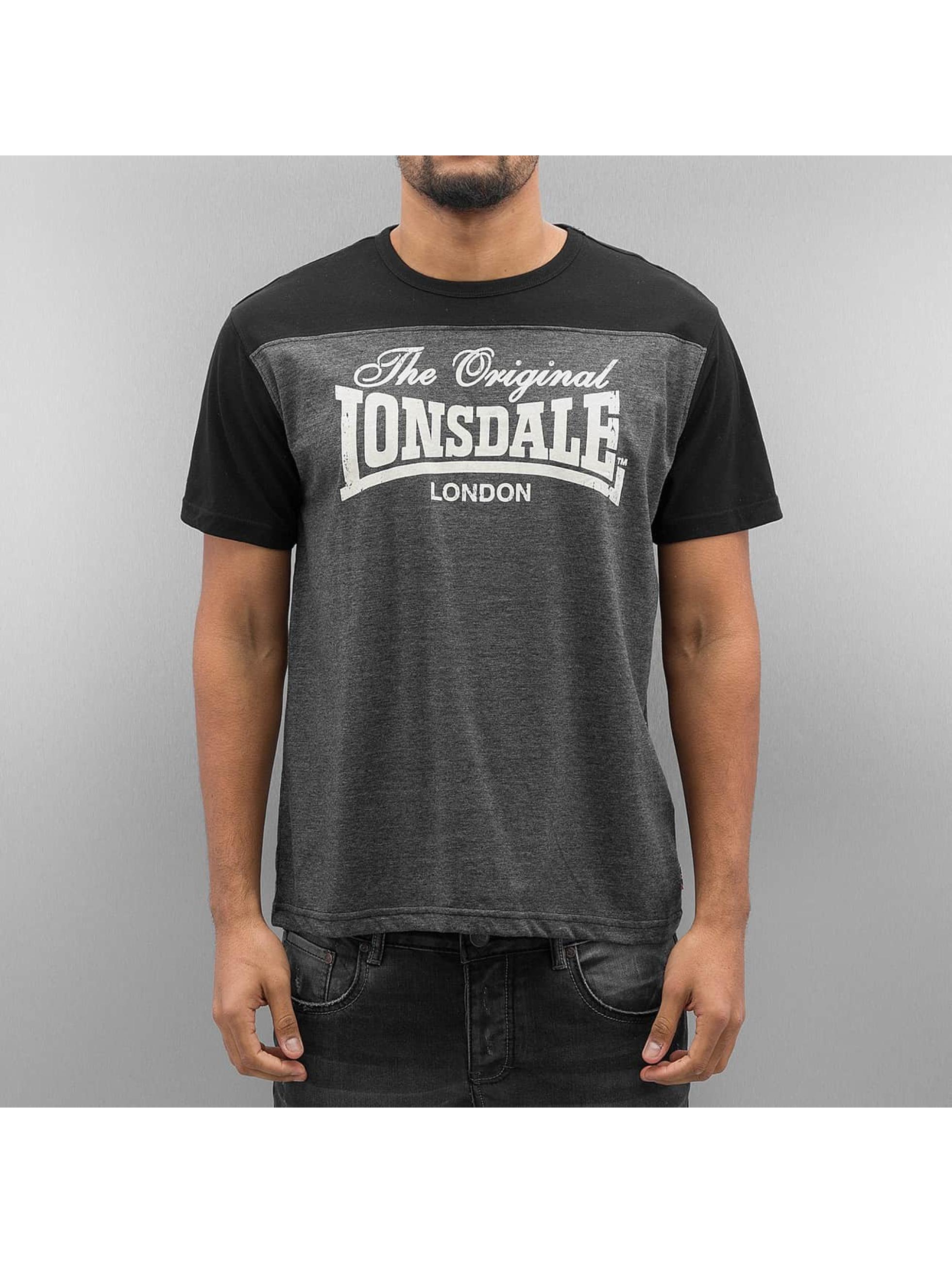 Lonsdale London Männer T-Shirt Leadhills in grau