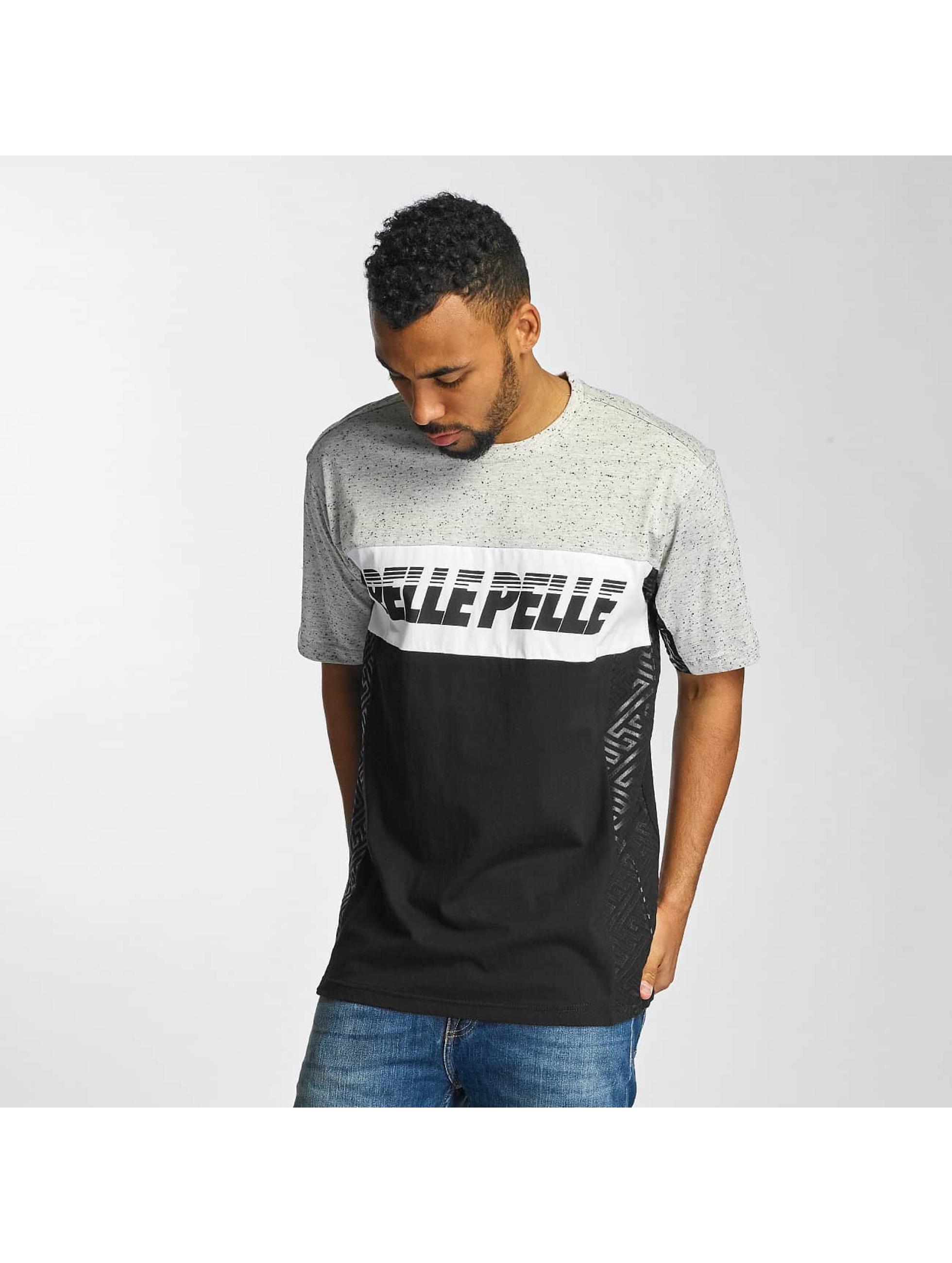 Pelle Pelle Männer T-Shirt Sayagata Block in schwarz