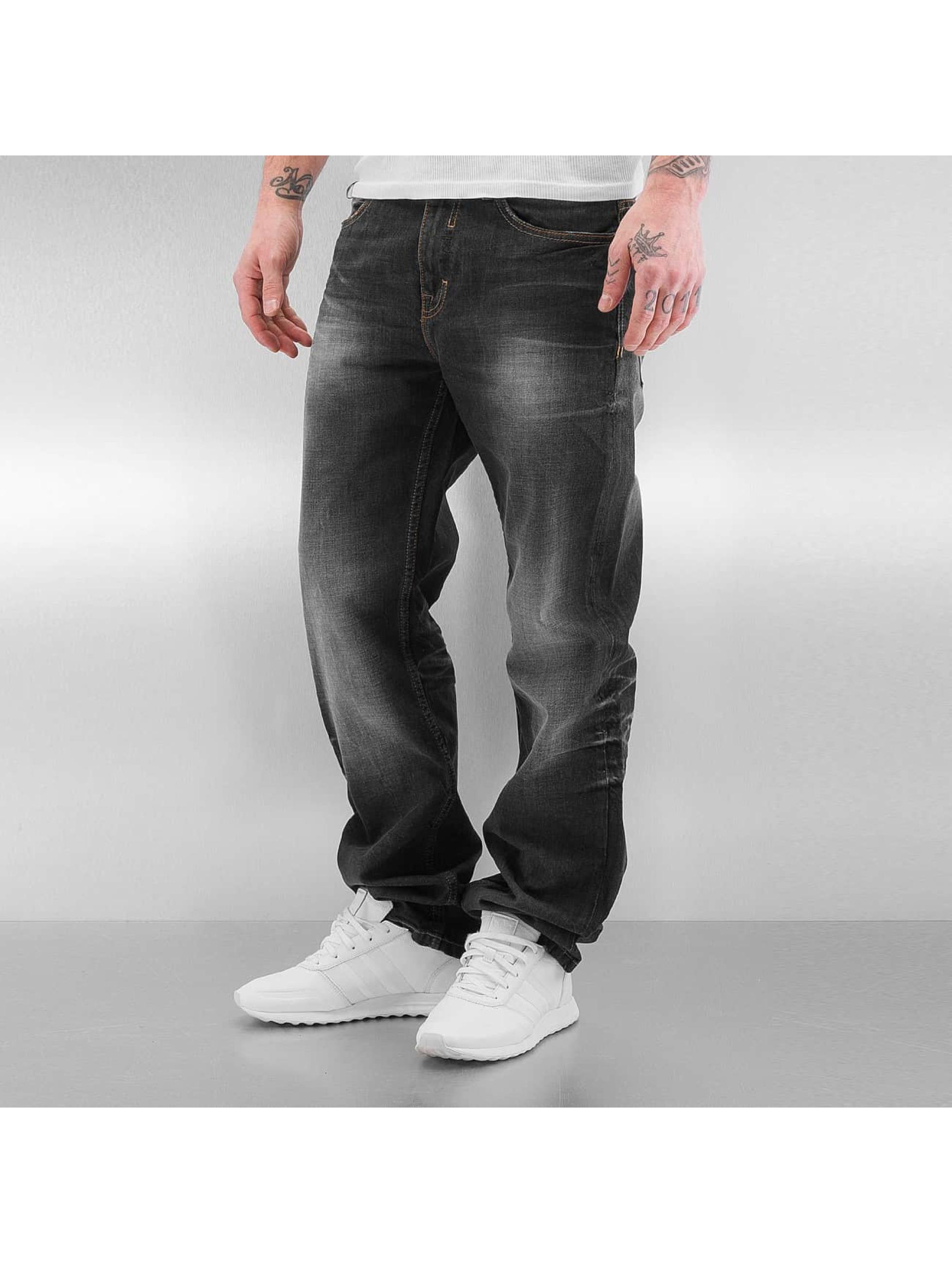 Pelle Pelle Männer Loose Fit Jeans Baxter in schwarz