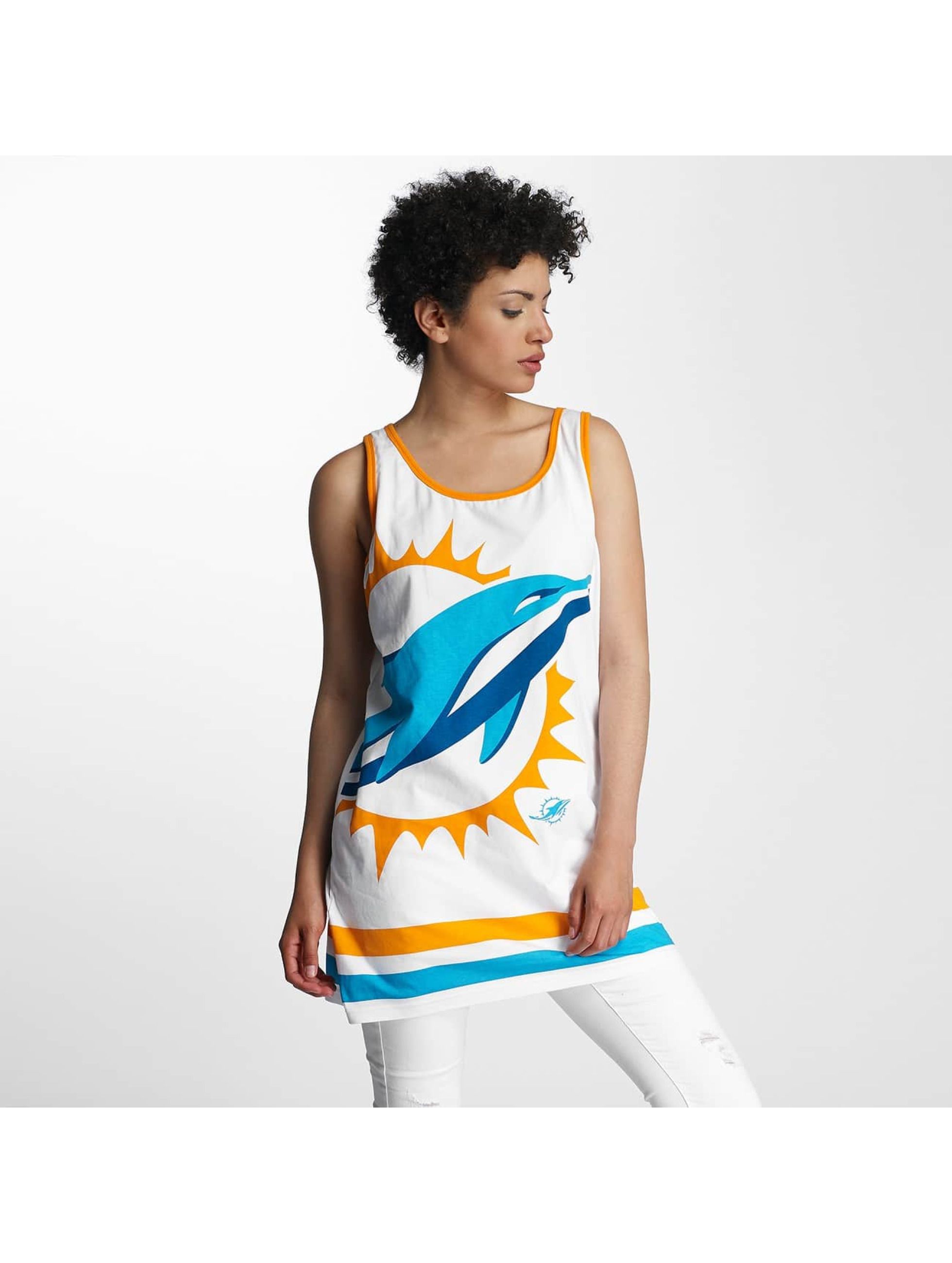 Majestic Athletic Frauen Tank Tops Miami Dolphins in weiß