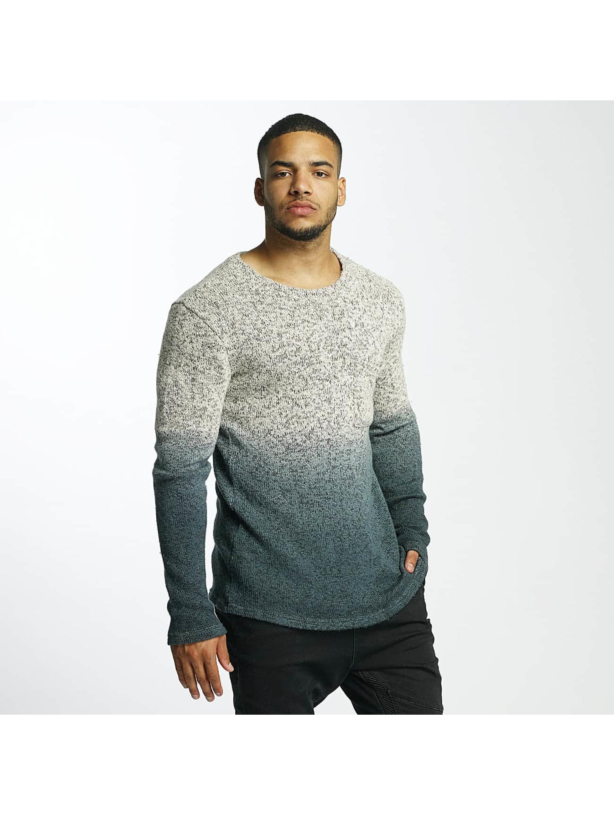 DEF Männer Pullover Degradee in grau