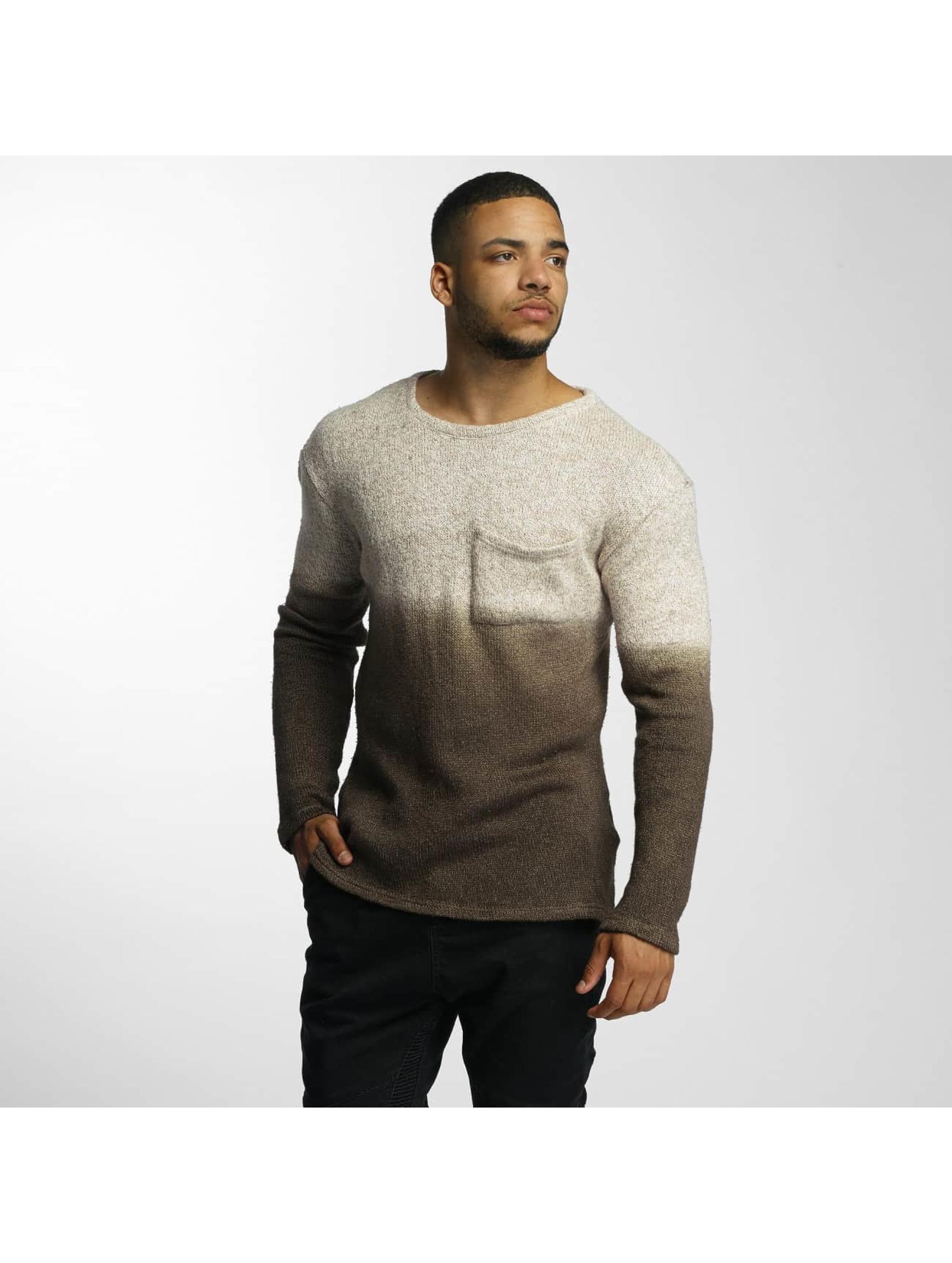 DEF Männer Pullover Dip-Dye in braun