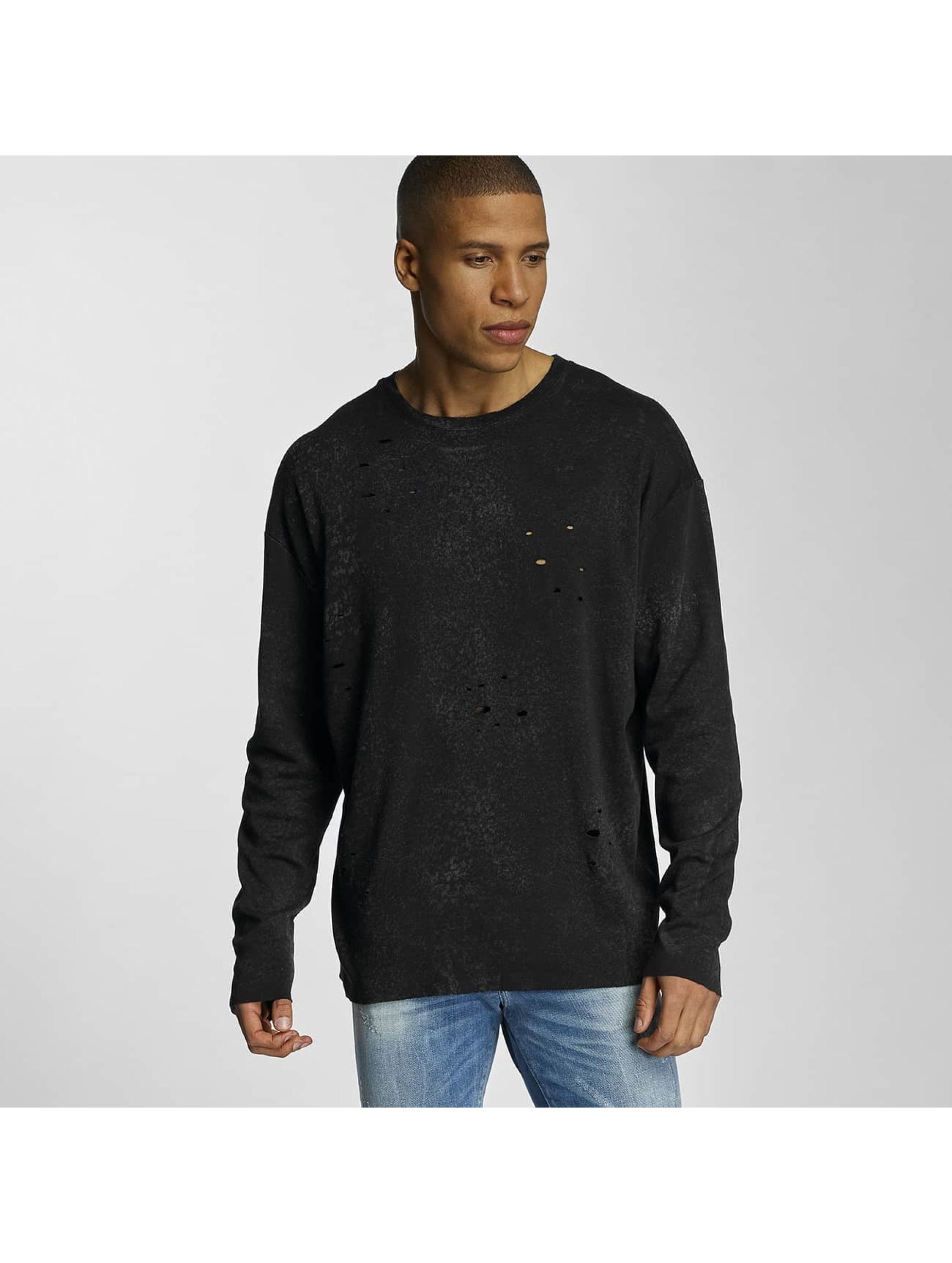 Bangastic Männer Pullover Crinkle in schwarz