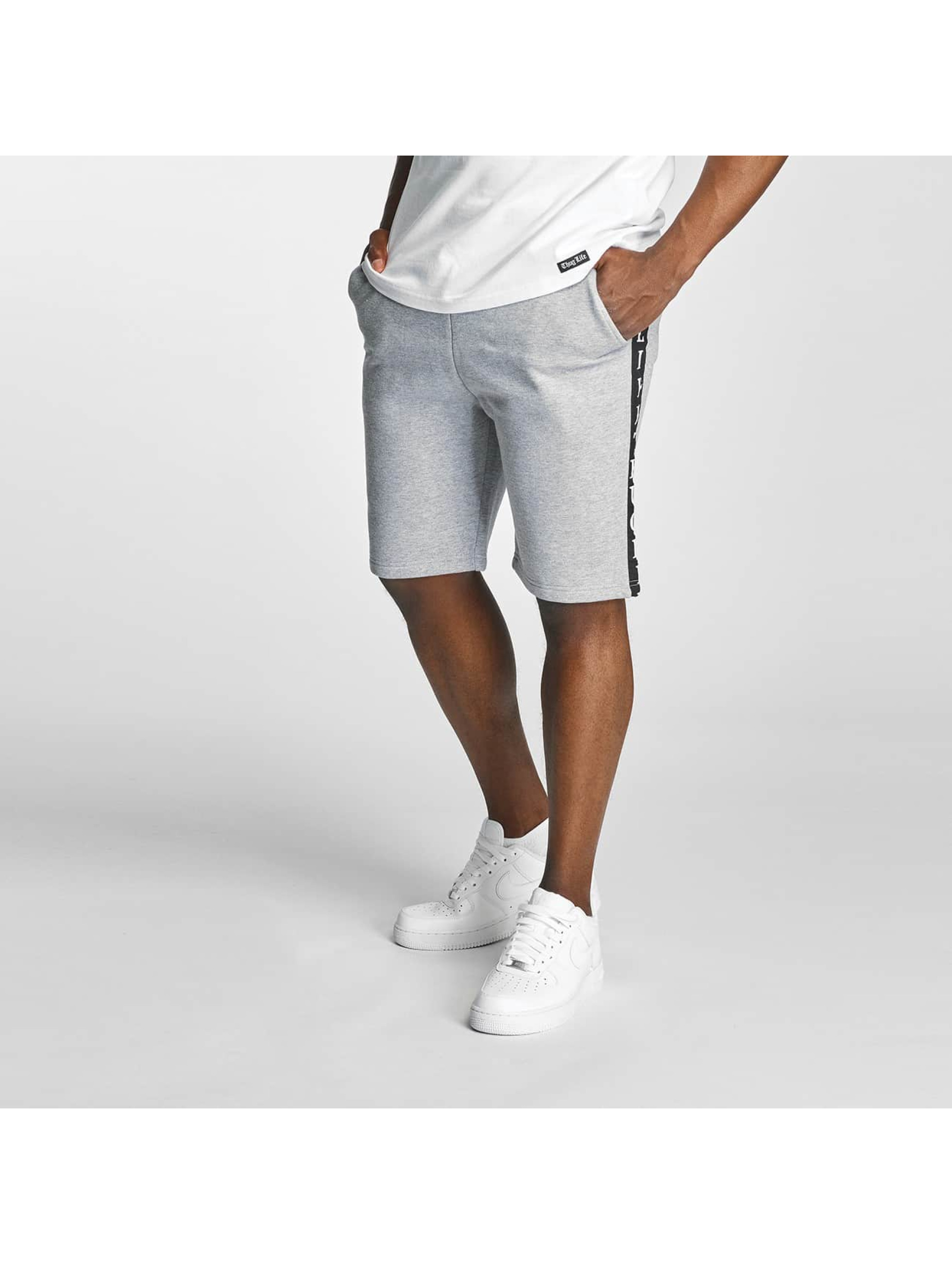 Thug Life Twostripes Shorts Grey Sale Angebote Hosena