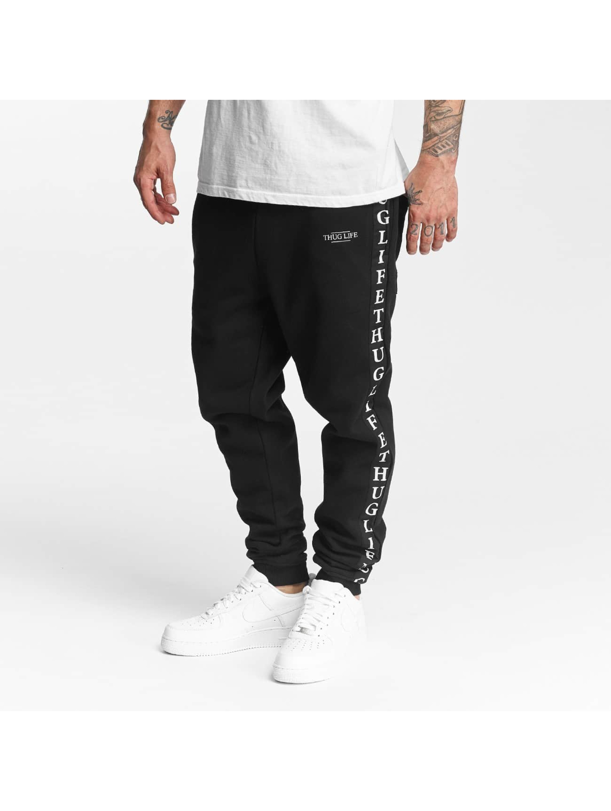 Thug Life Wired Life Sweatpants Black