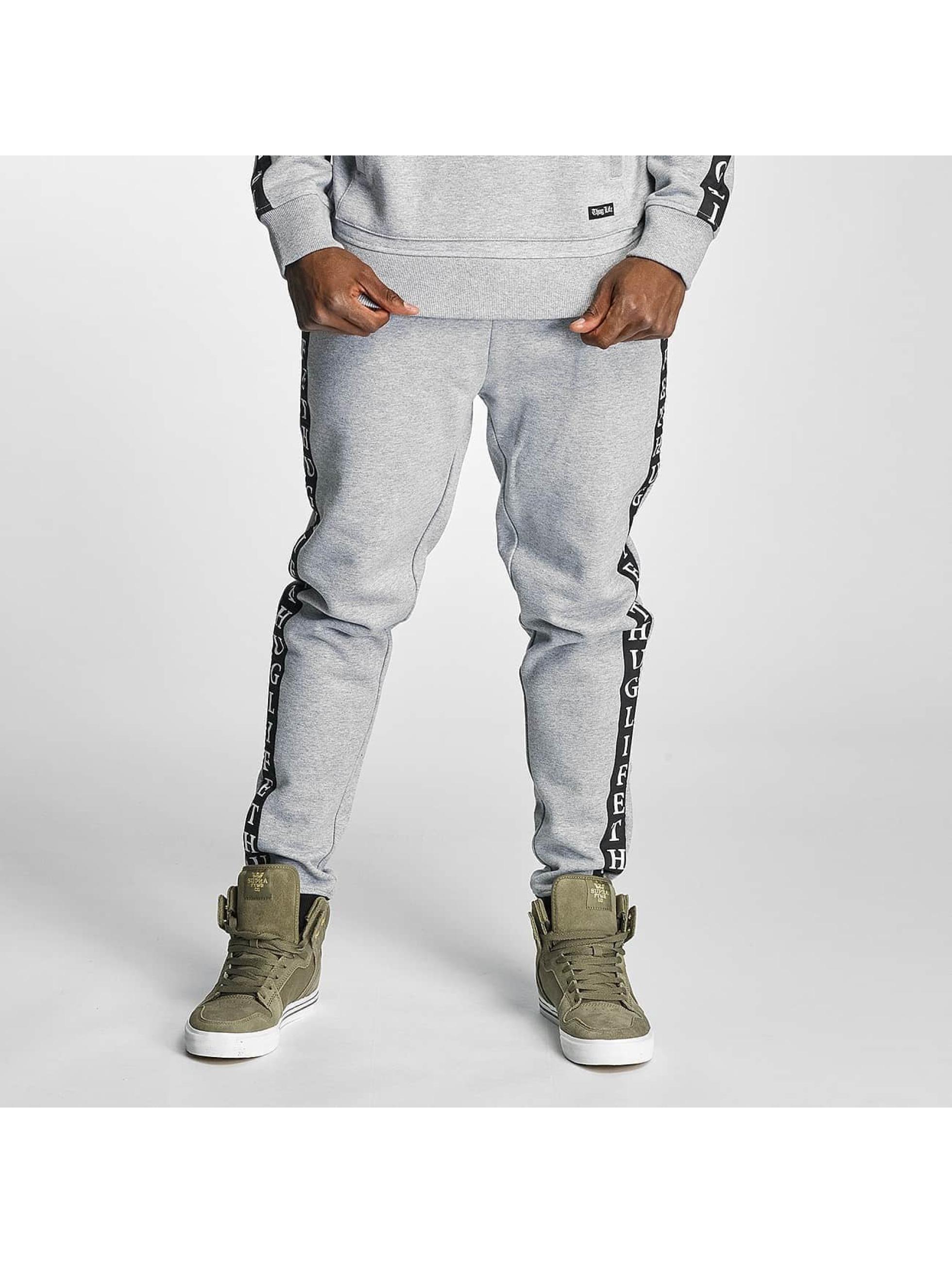 Thug Life Männer Jogginghose Wired in grau