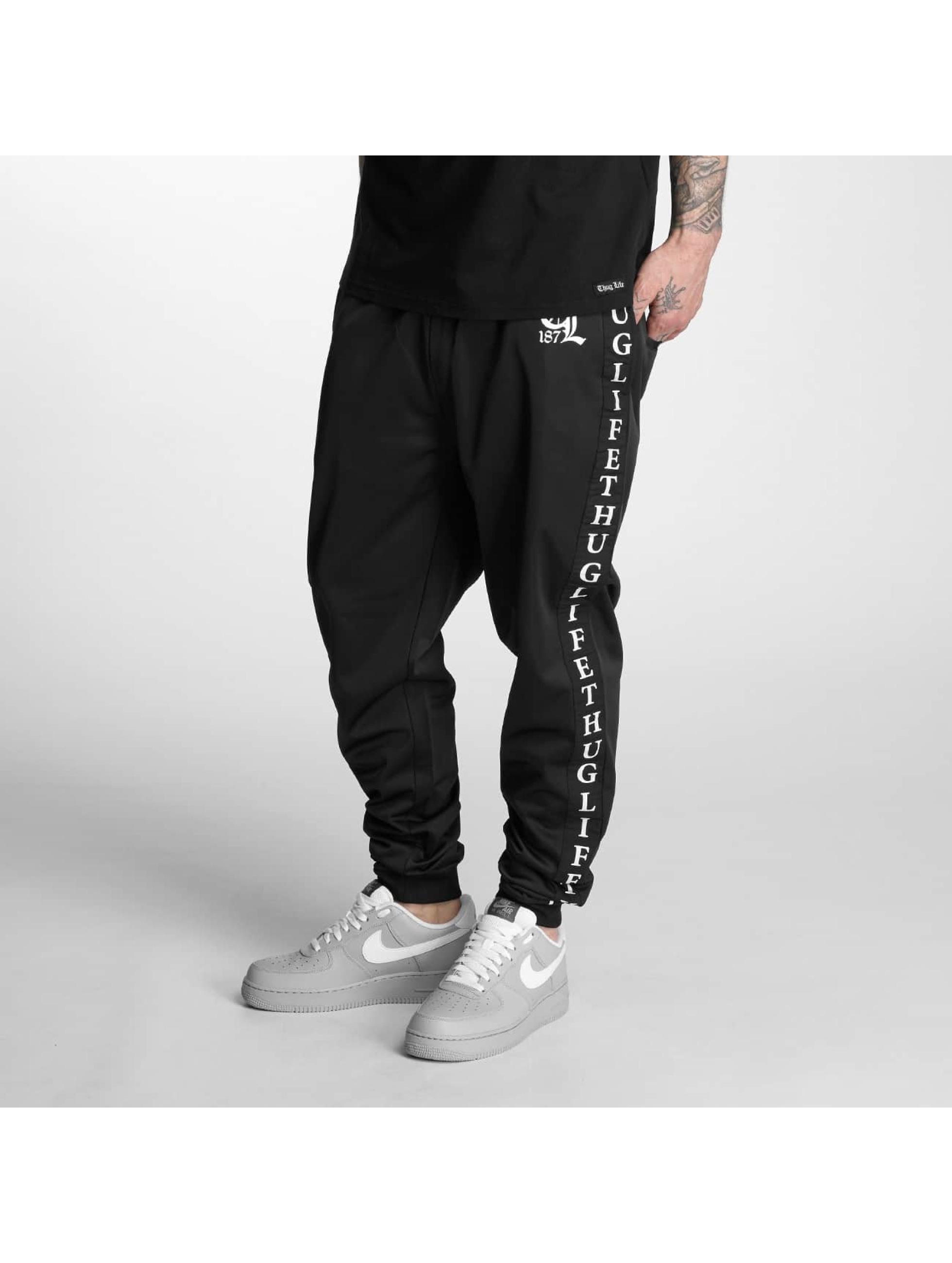 Thug Life Männer Jogginghose Life Two in schwarz